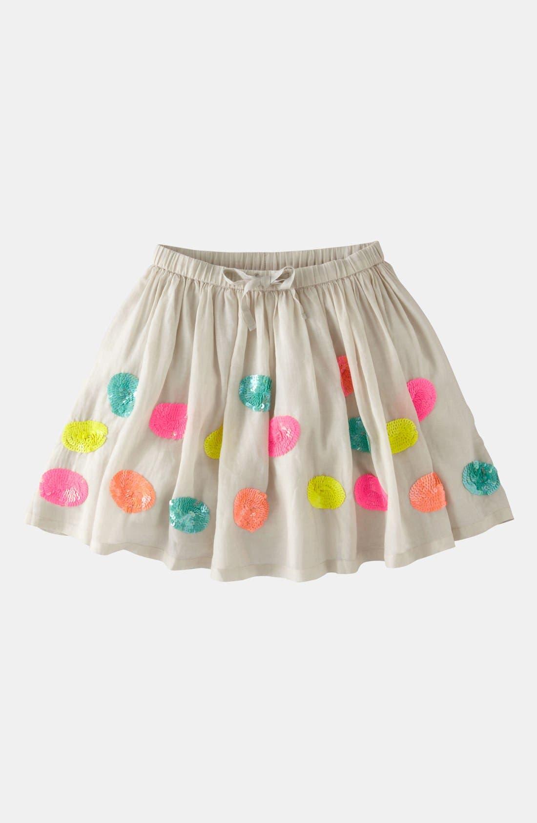 Alternate Image 1 Selected - Mini Boden 'Fizzy Sequin' Skirt (Little Girls & Big Girls)