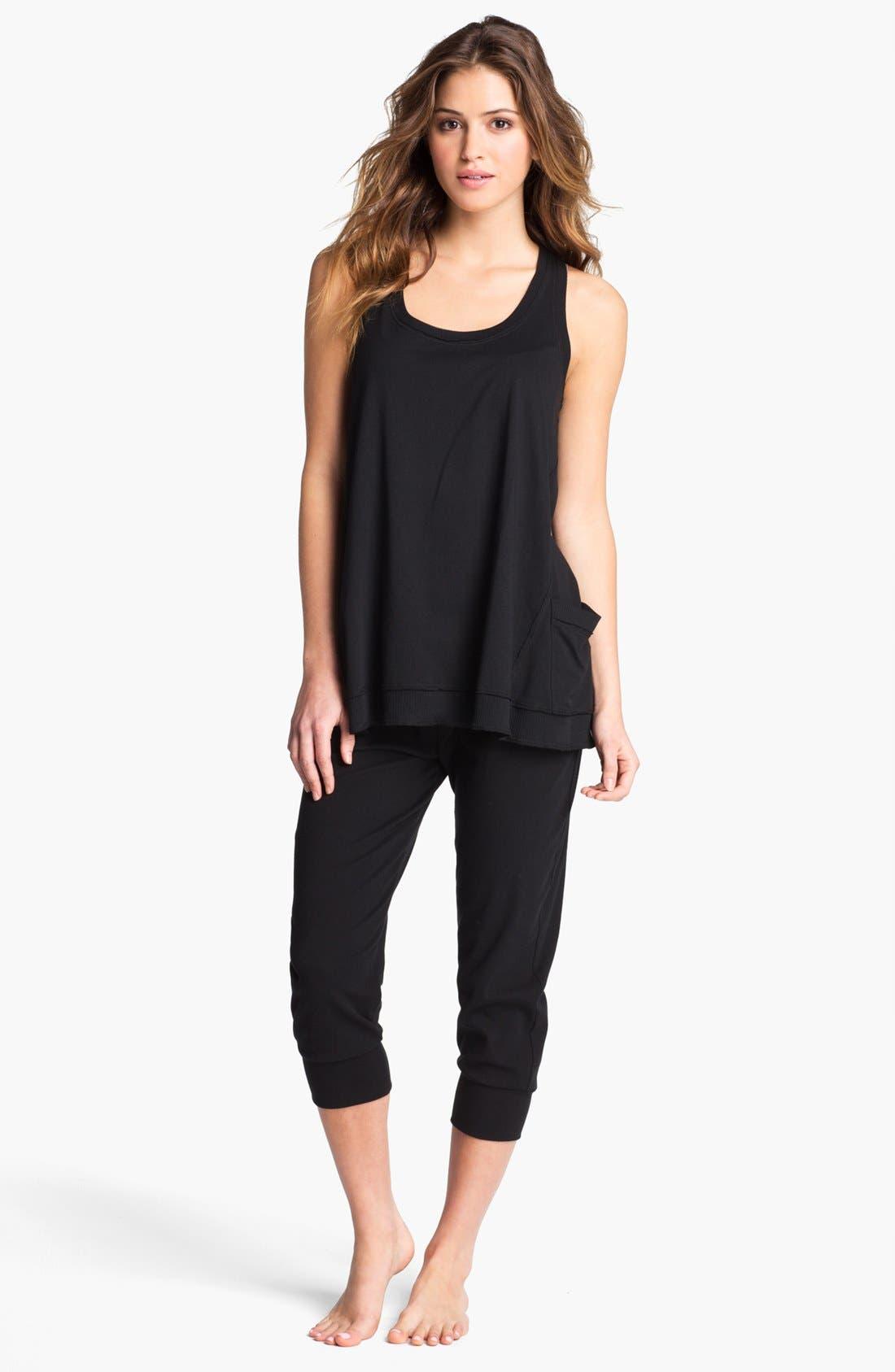 Alternate Image 3  - Donna Karan 'Casual Luxe' Crop Lounge Pants