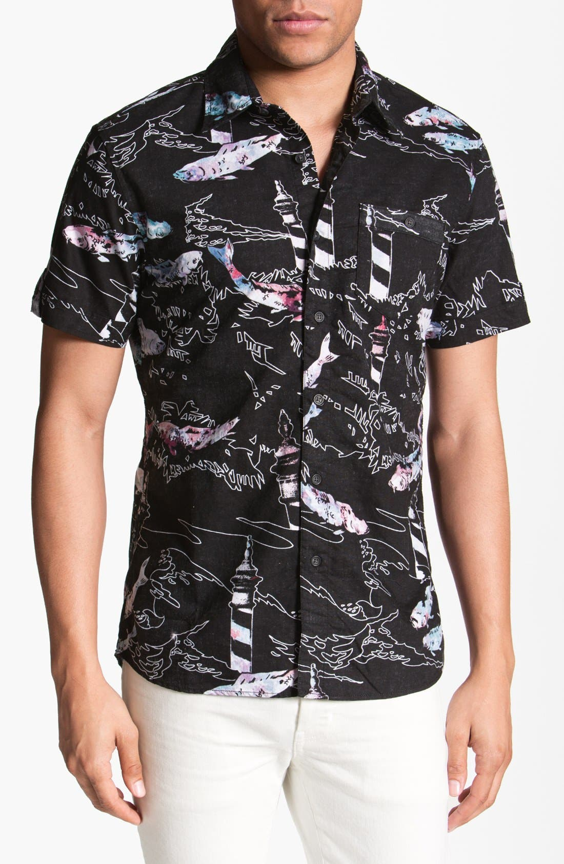 Main Image - 55DSL 'Sopelana' Short Sleeve Woven Shirt