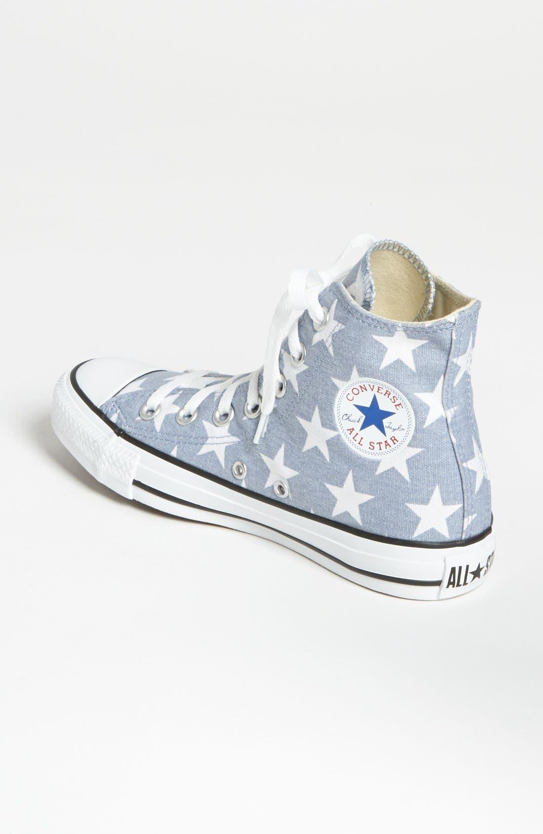 Alternate Image 2  - Converse Chuck Taylor® All Star® Stars High Top Sneaker (Women)