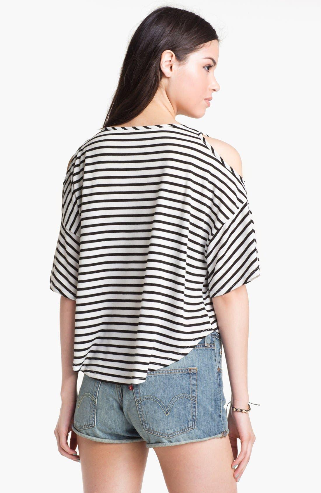 Alternate Image 2  - Elodie Cutout Shoulder Sweatshirt (Juniors)
