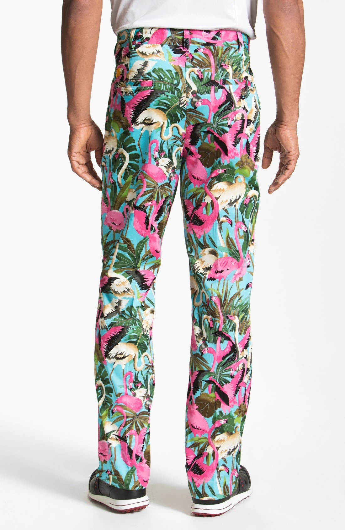 Alternate Image 2  - Loudmouth Golf 'Pink Flamingo' Pants