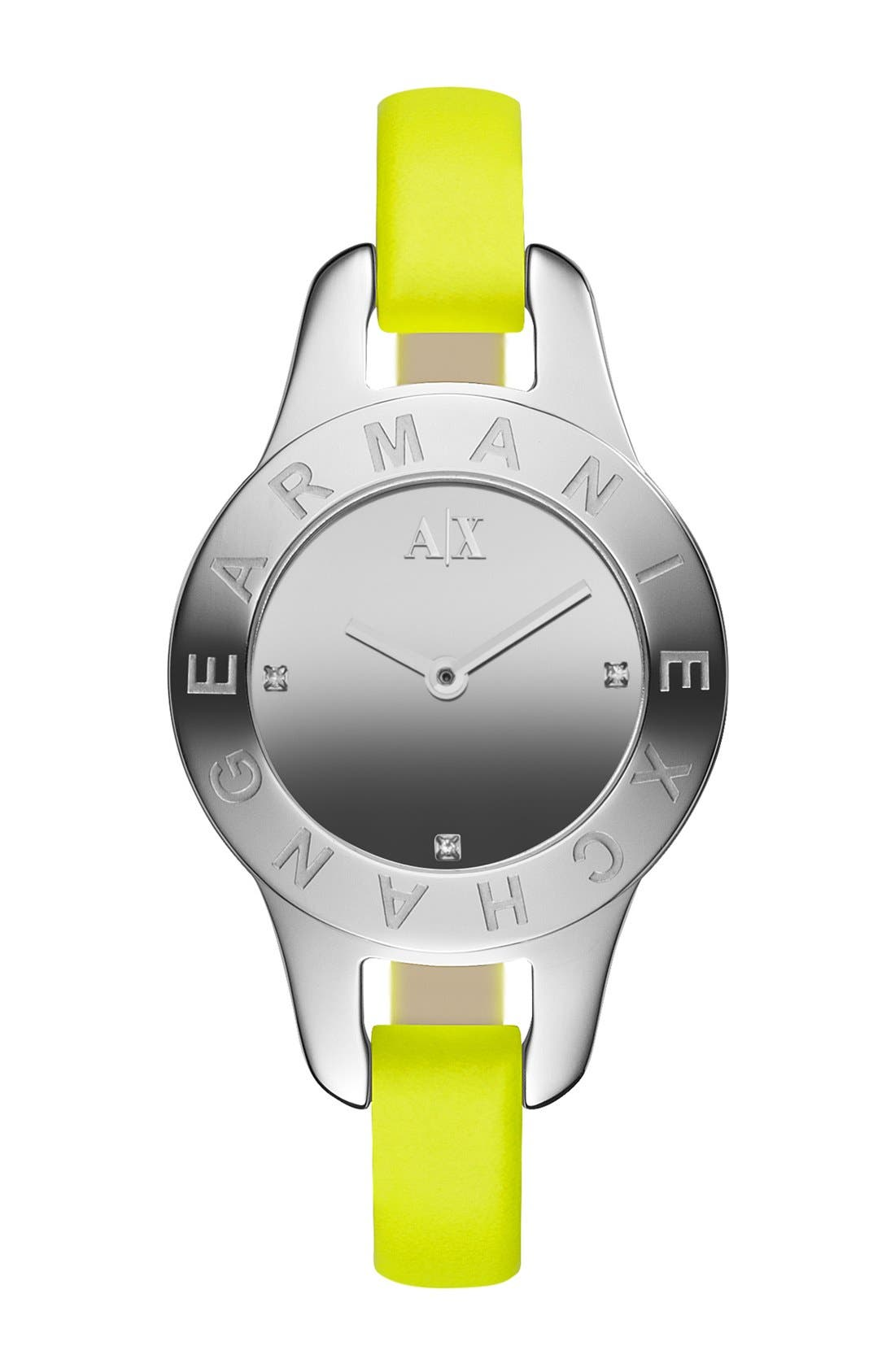 Alternate Image 1 Selected - AX Armani Exchange Mirror Dial Watch, 30mm