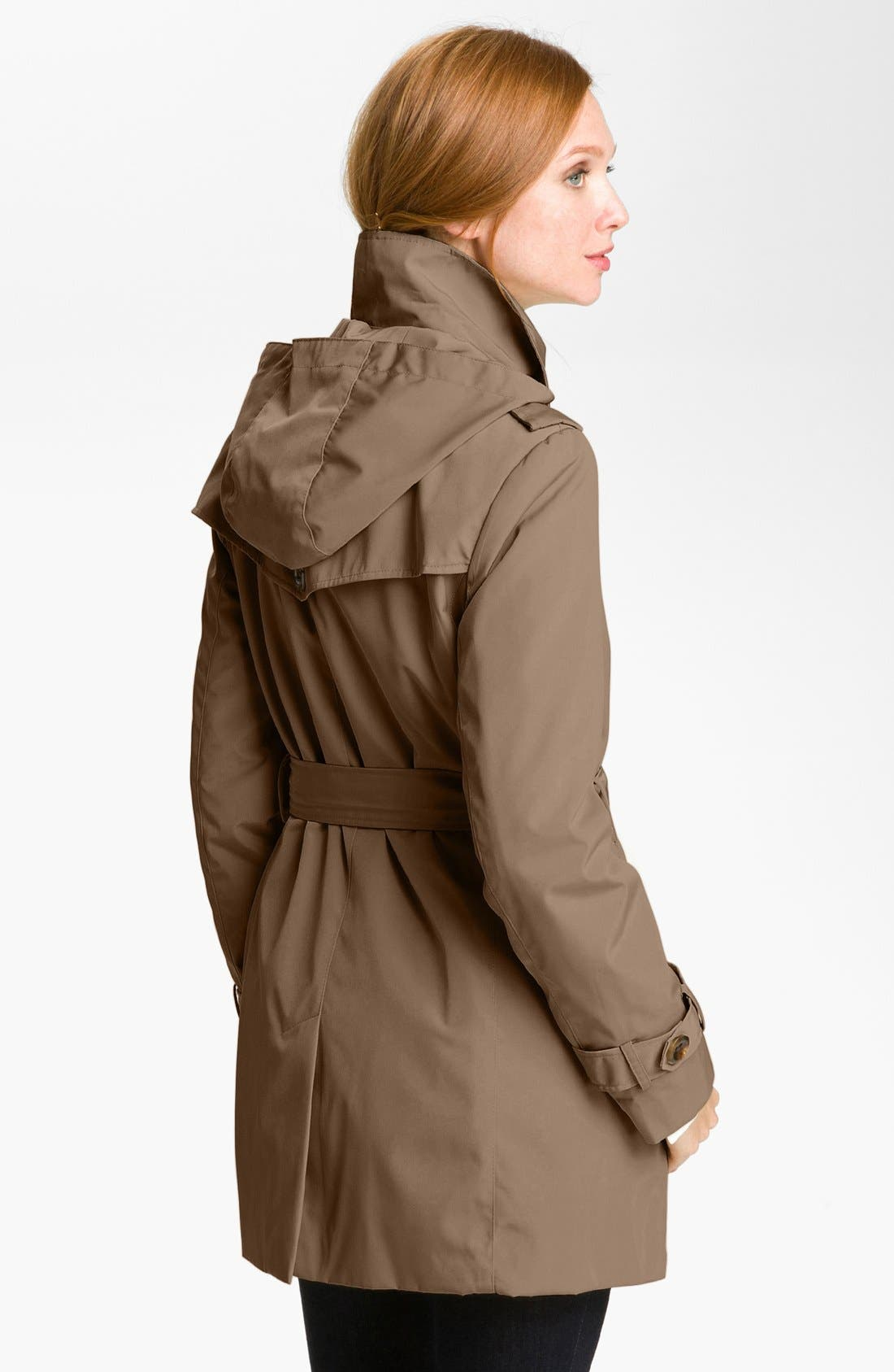 Alternate Image 2  - Calvin Klein Double Breasted Trench Coat