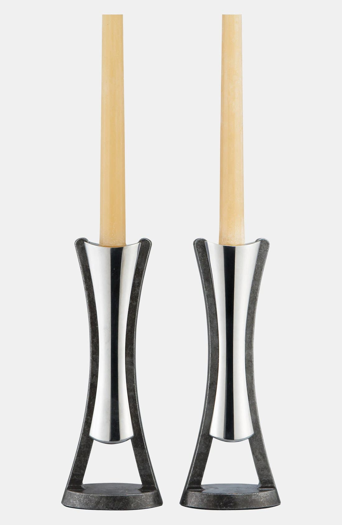 Alternate Image 1 Selected - Nambé 'Anvil' Candlesticks (Set of 2)