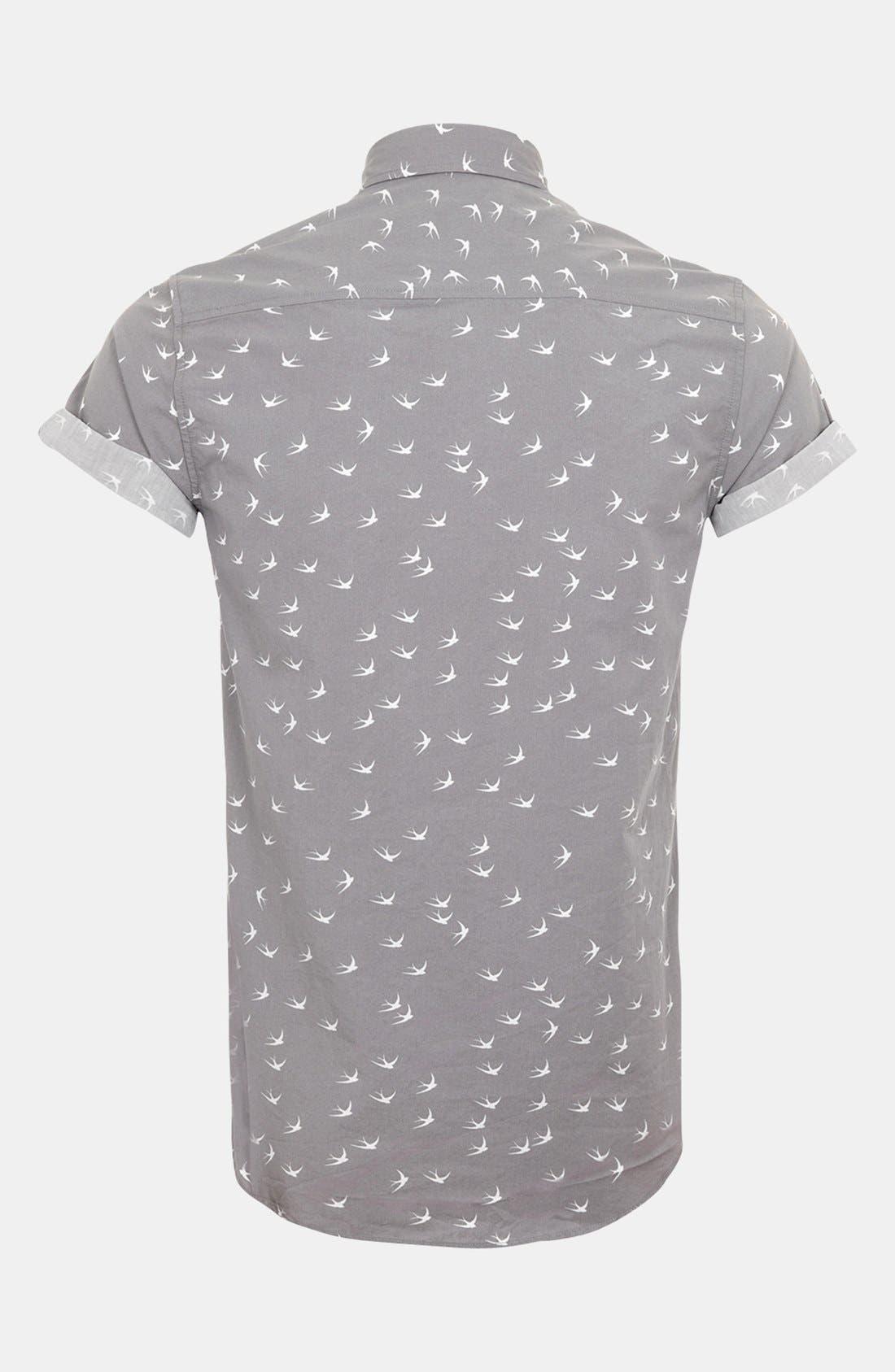 Alternate Image 2  - Topman 'High Roller' Swallow Print Shirt