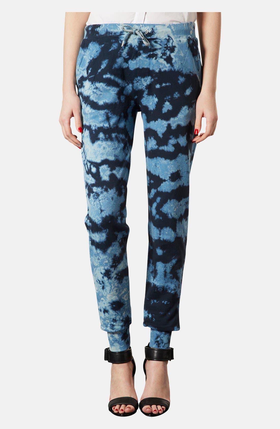 Alternate Image 1 Selected - Topshop Tie Dye Tapered Sweatpants