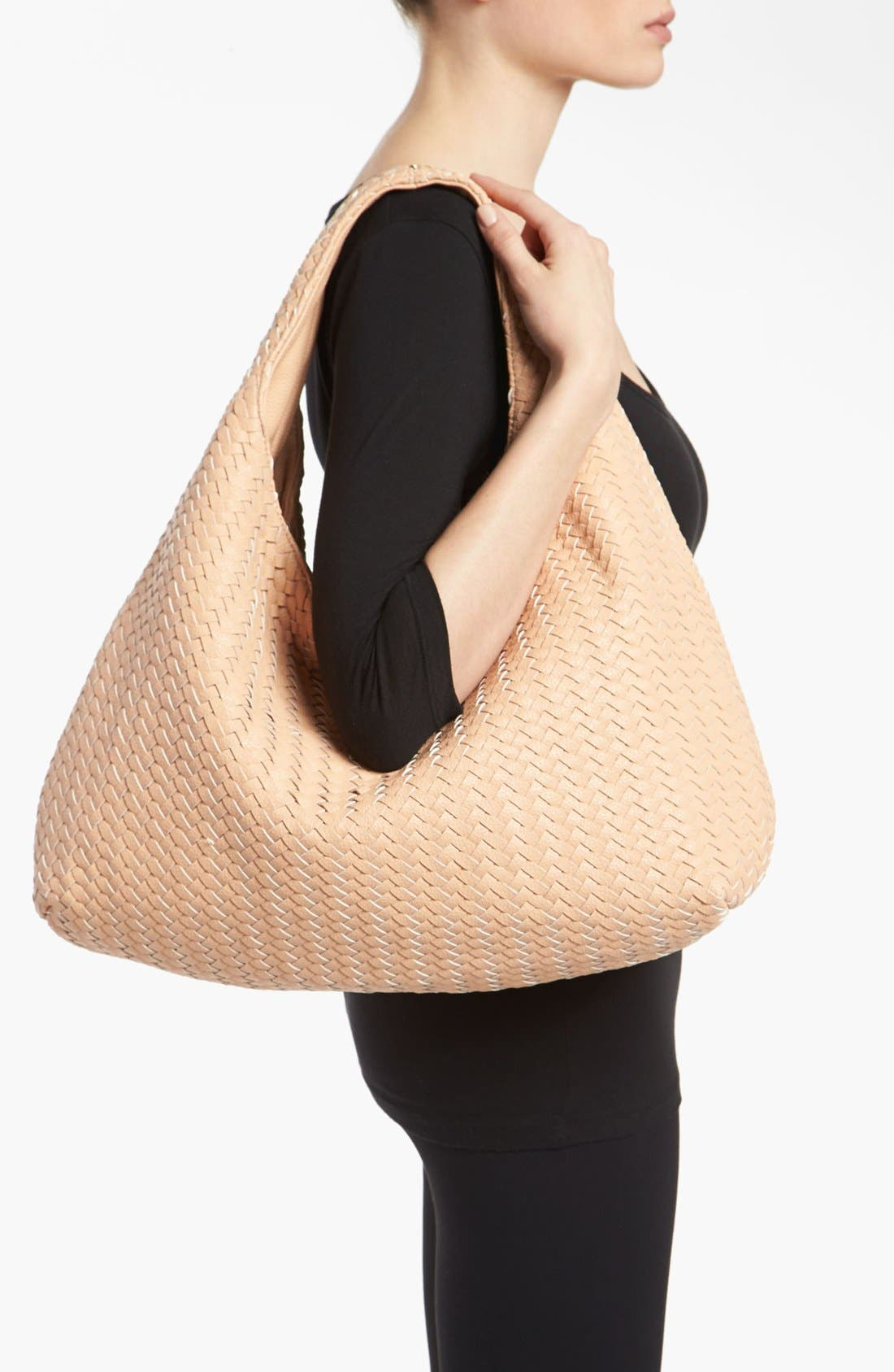 Alternate Image 2  - Deux Lux 'Greenwich' Studded Faux Leather Hobo
