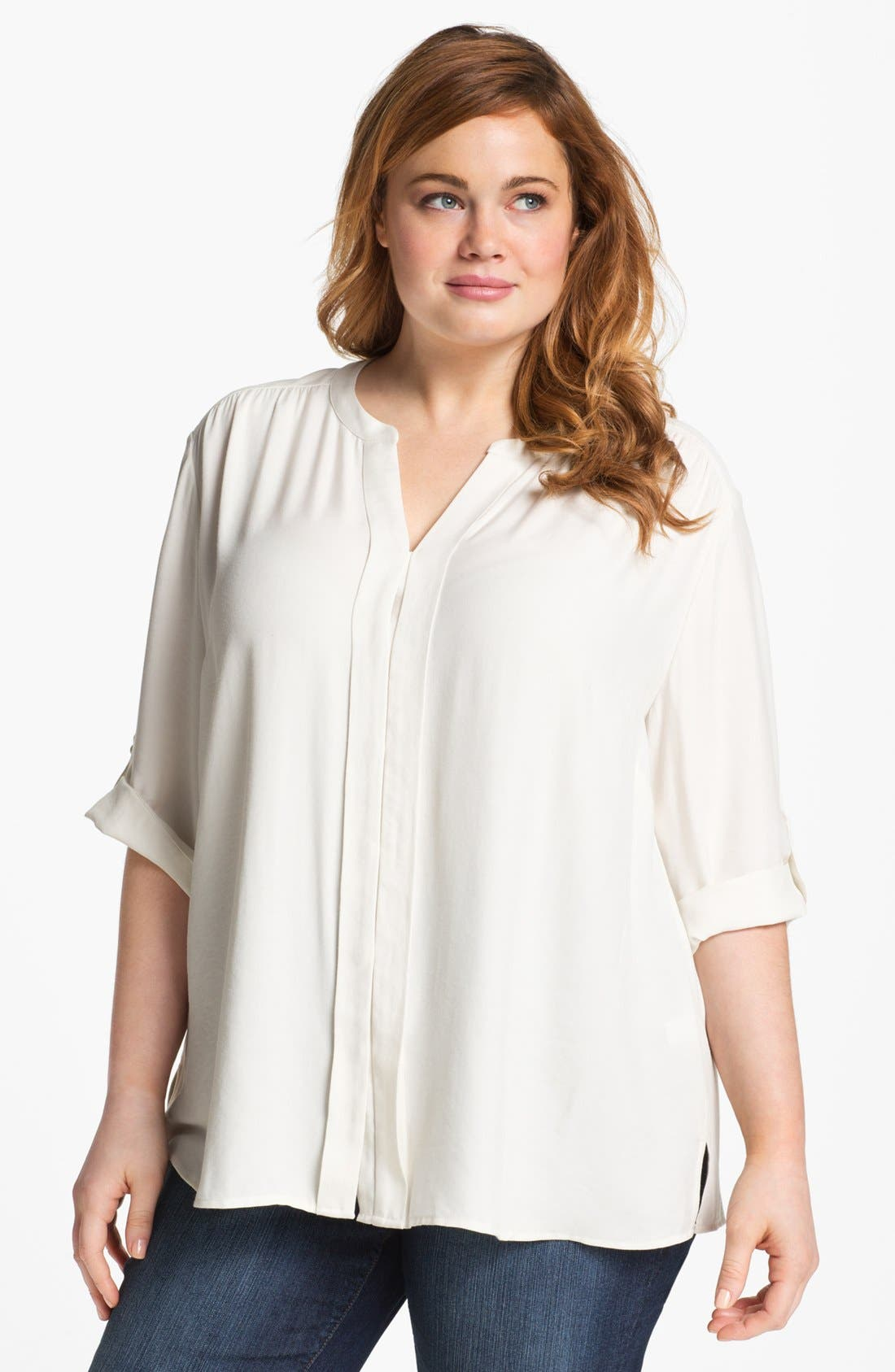 Alternate Image 1 Selected - Sejour Twill Shirt (Plus Size)