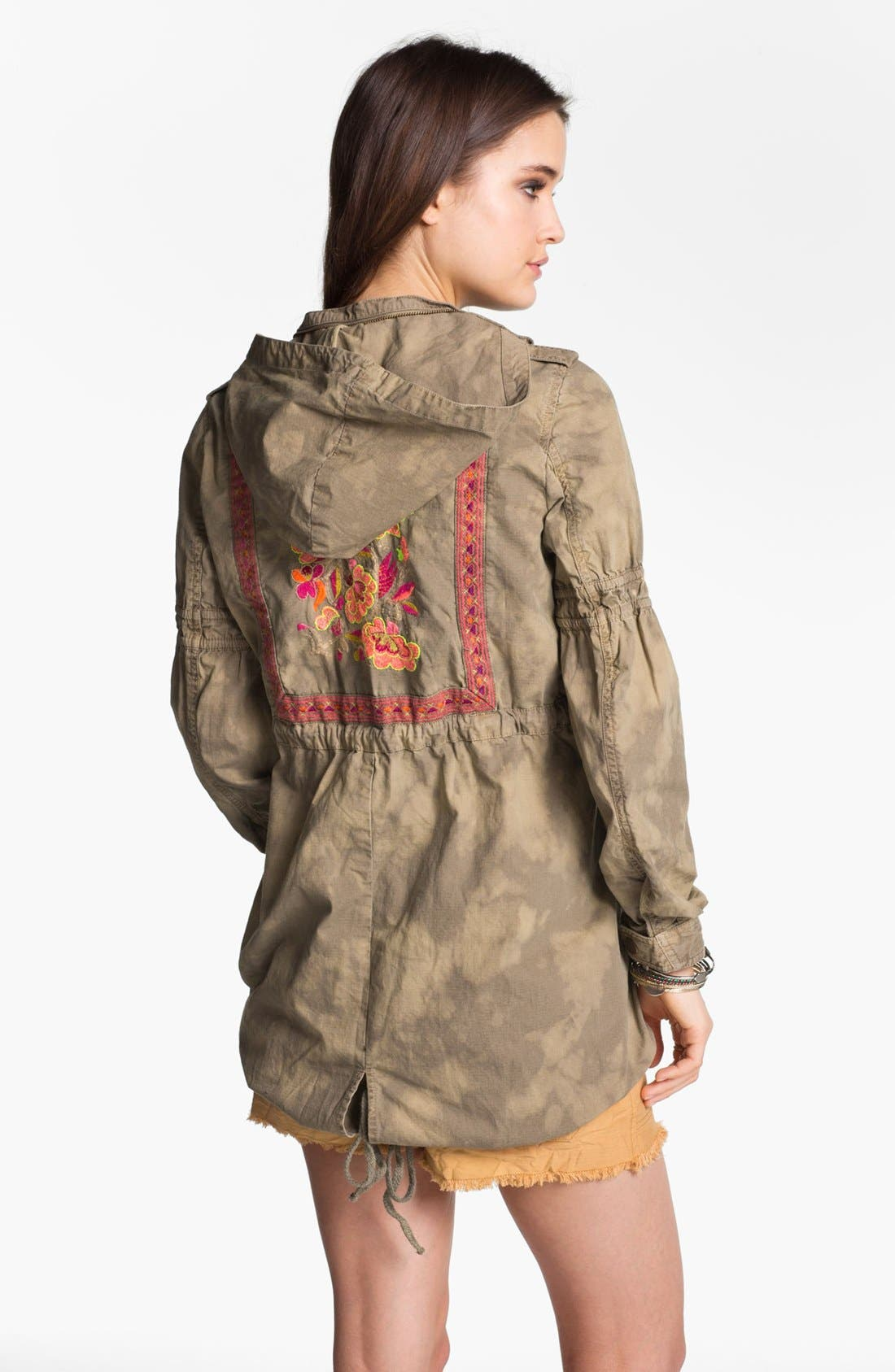 Alternate Image 2  - Free People 'Festival' Embroidered Tie Dye Anorak