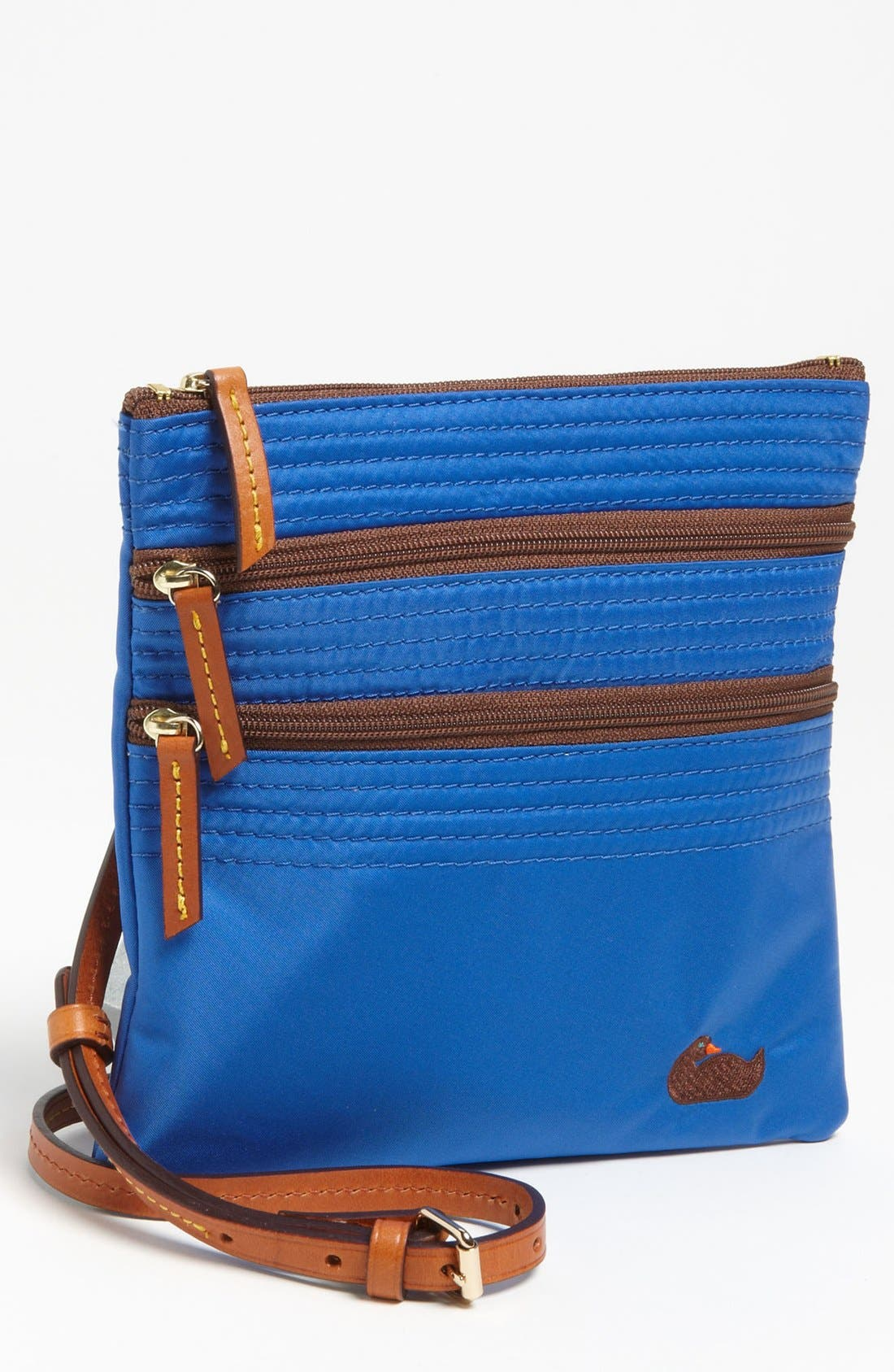 Alternate Image 1 Selected - Dooney & Bourke 'Triple Zip' Nylon Crossbody Bag