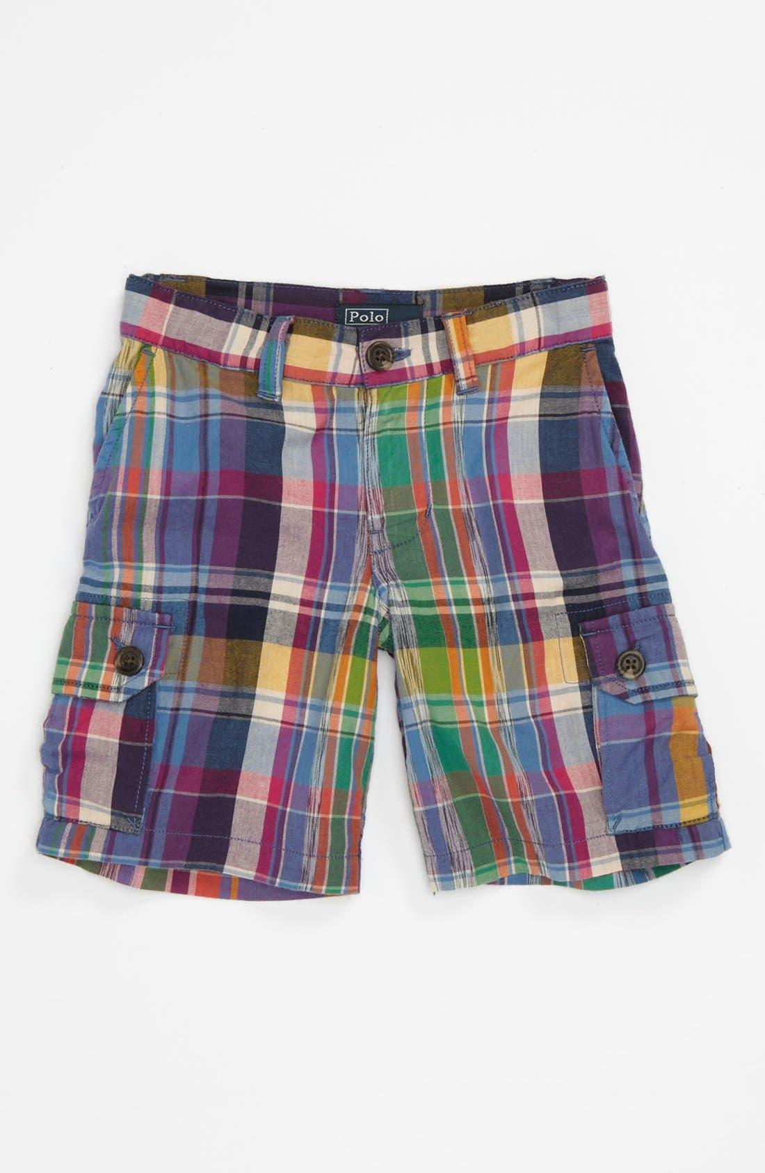 Main Image - Ralph Lauren Plaid Shorts (Toddler)