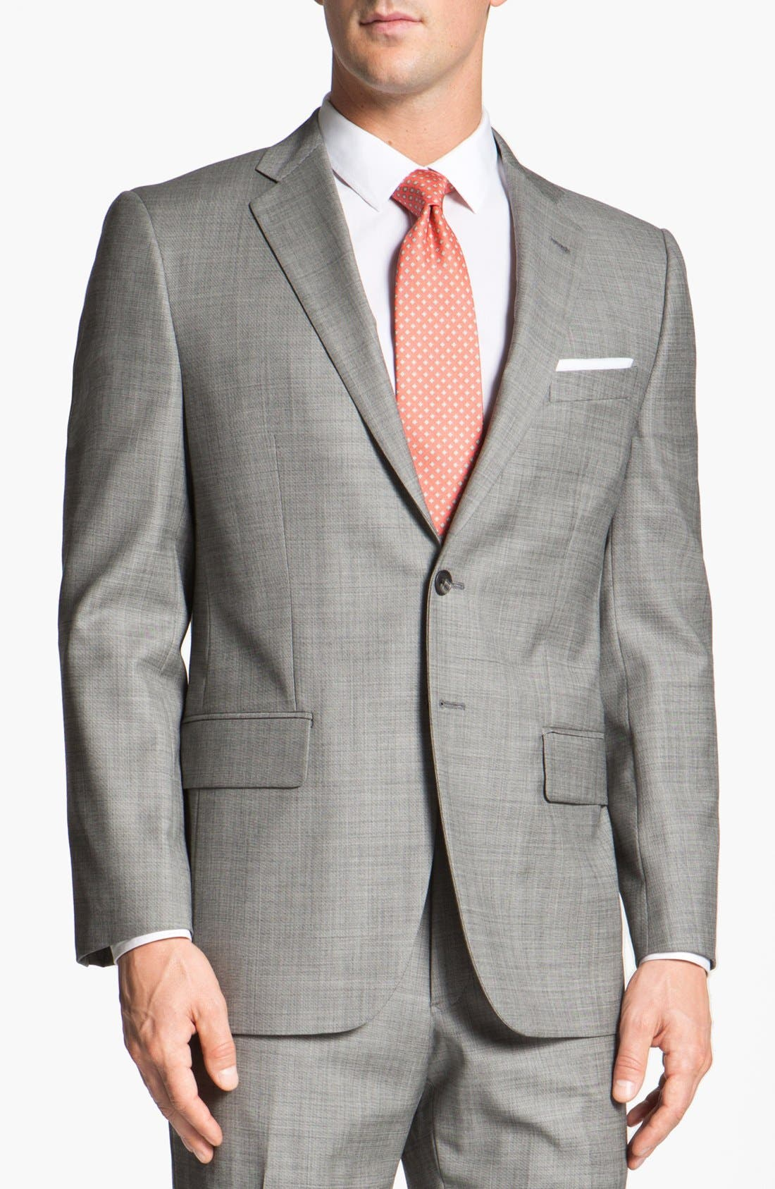 Main Image - Joseph Abboud 'Profile' Trim Fit Wool Suit (Online Only)