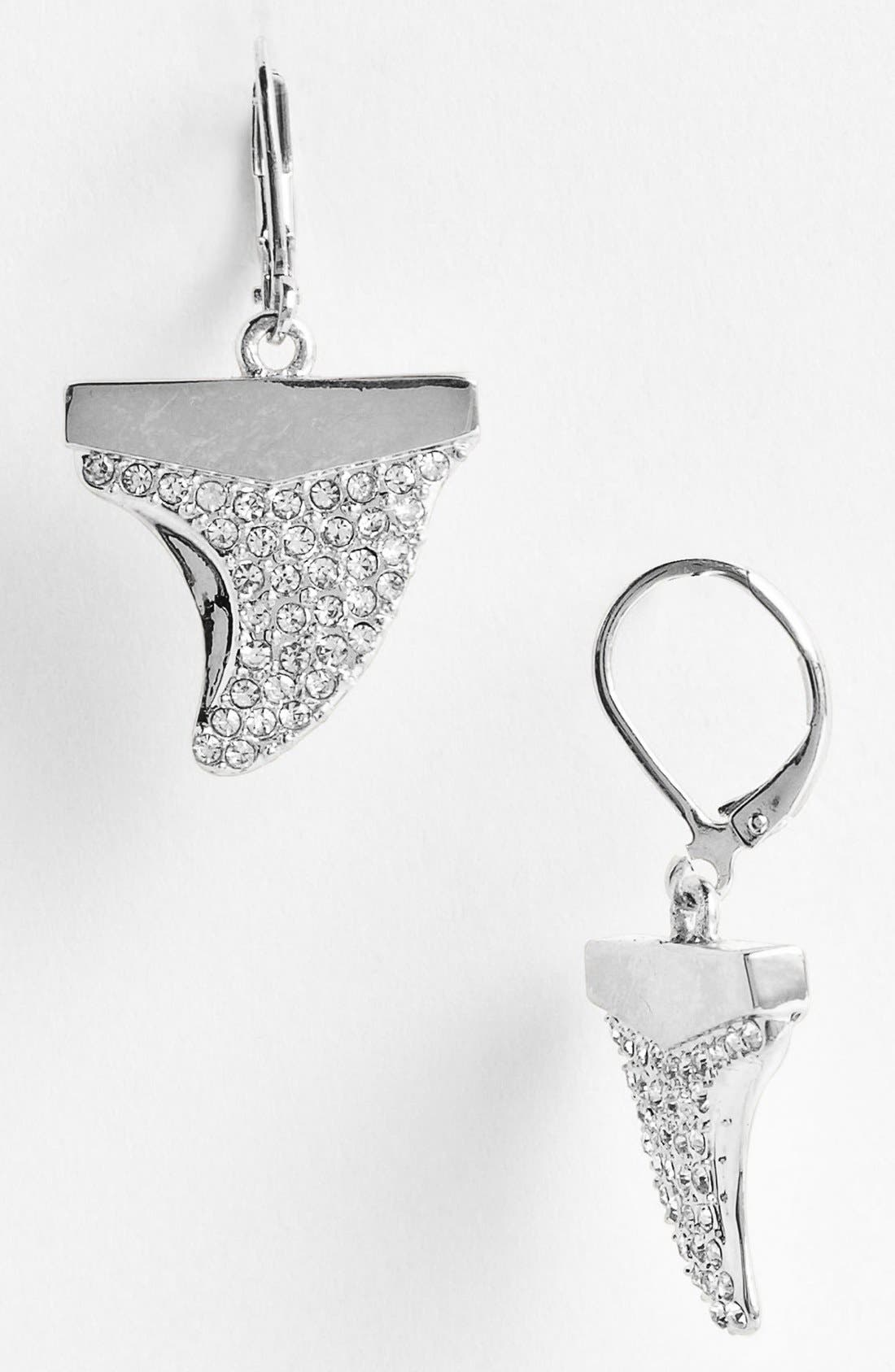 Alternate Image 1 Selected - Vince Camuto Pavé Shark Tooth Drop Earrings