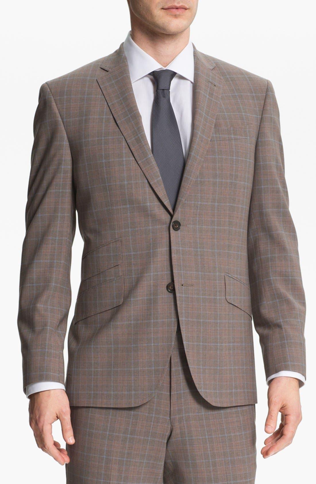 Alternate Image 1 Selected - Ted Baker London Trim Fit Plaid Suit