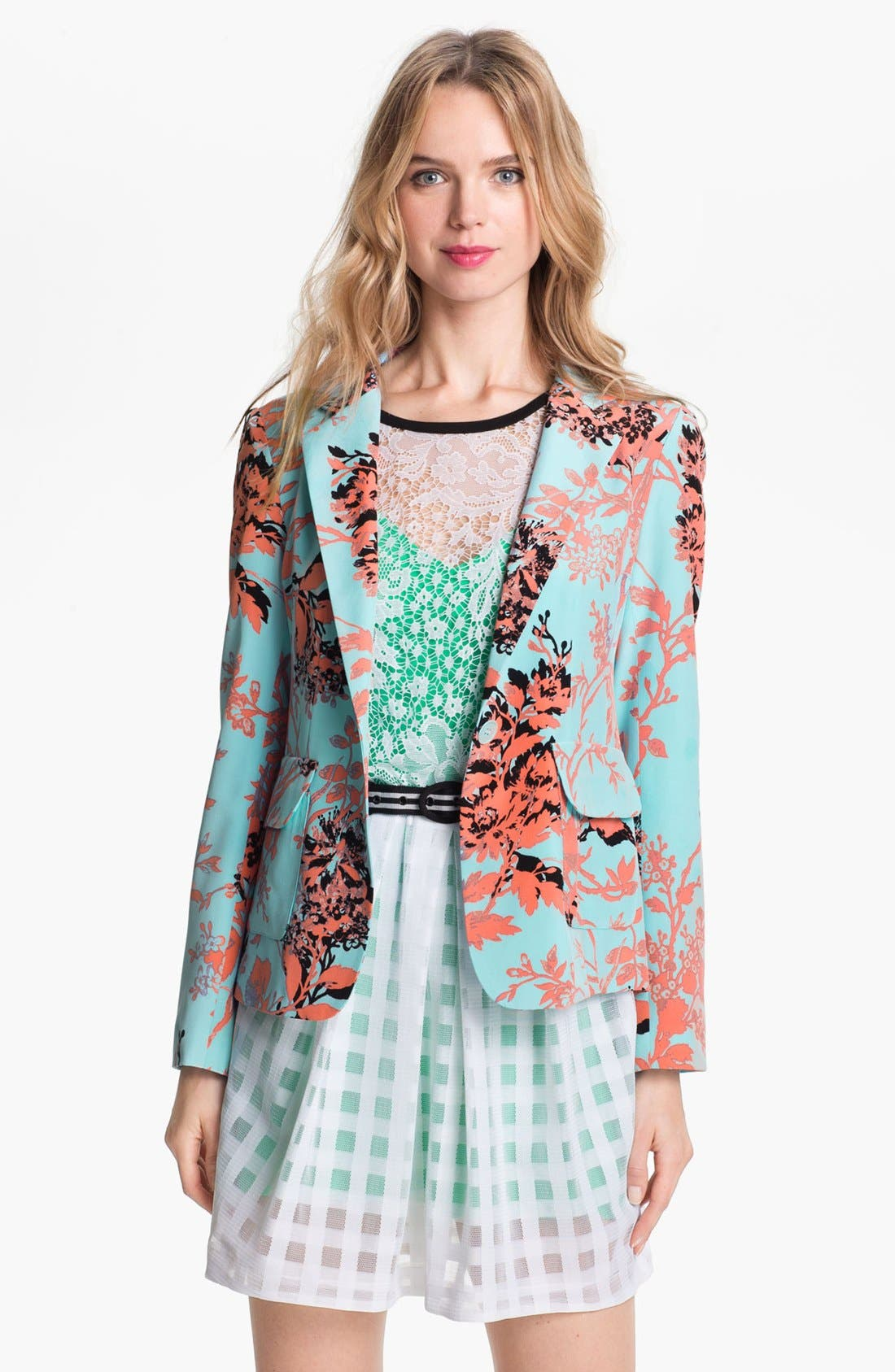 Alternate Image 1 Selected - Nanette Lepore 'Bombastic' Silk Blazer