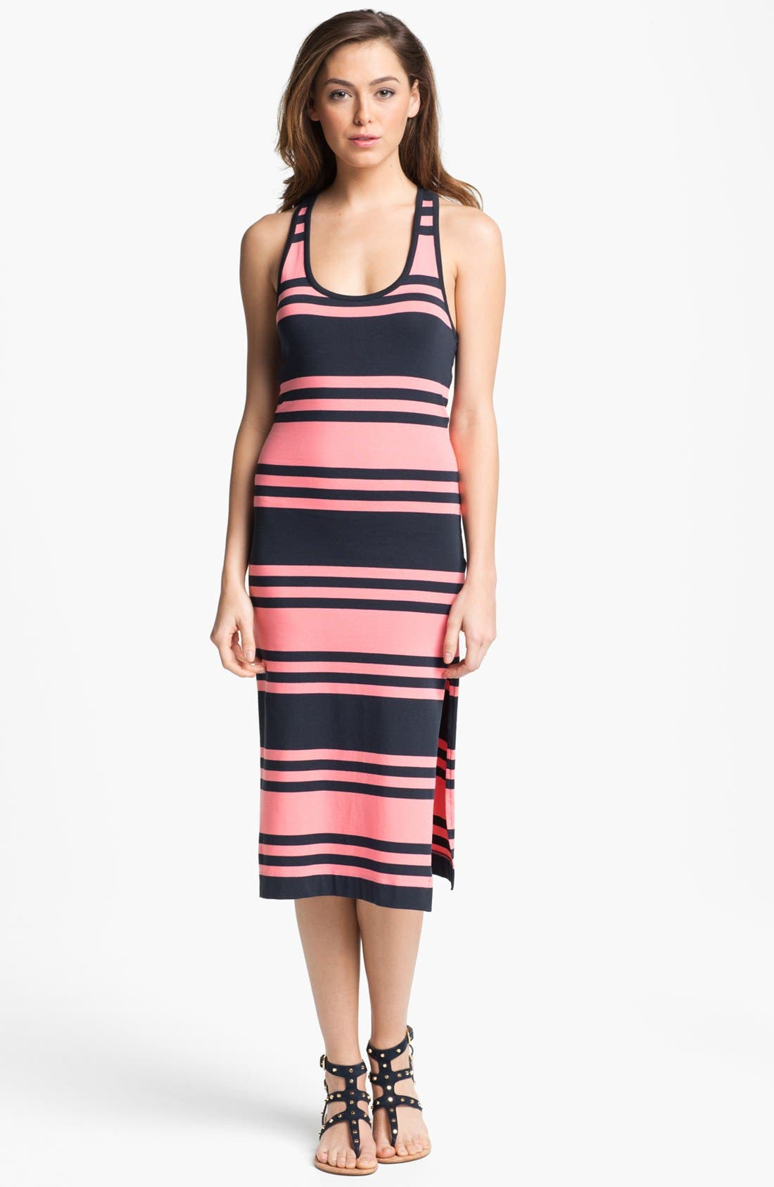 Main Image - French Connection Stripe Racerback Midi Dress