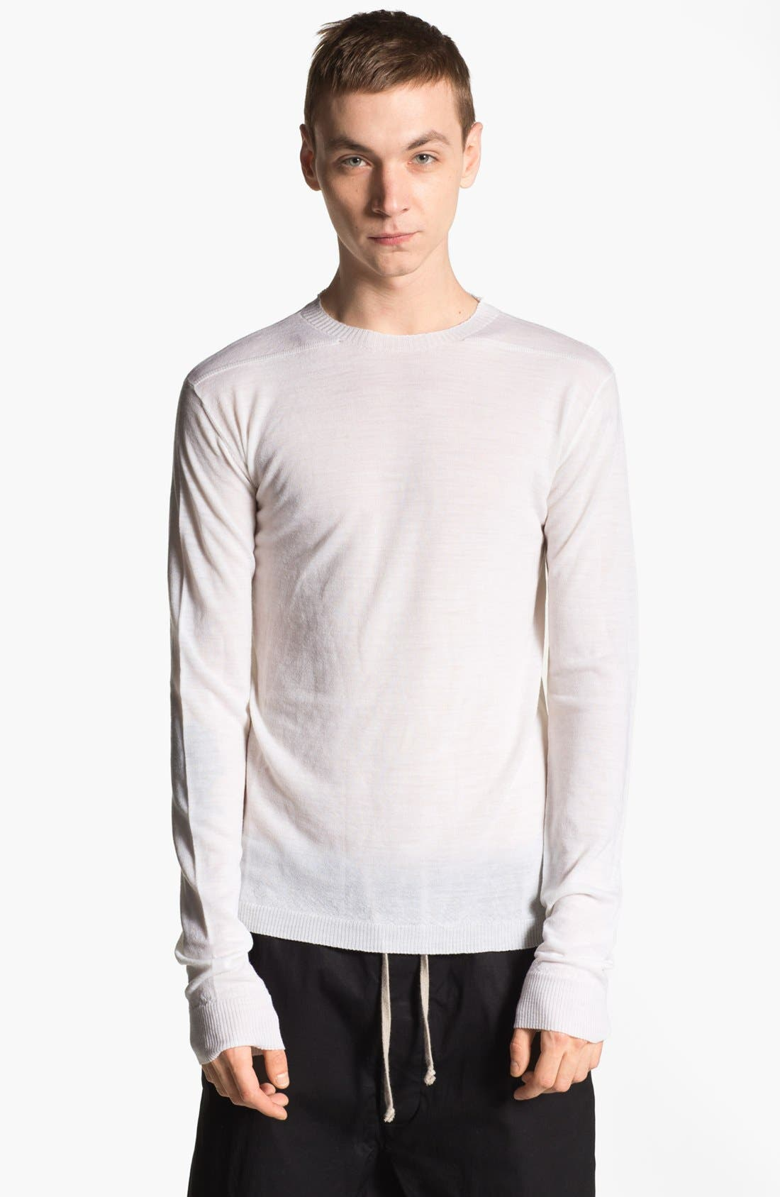 Alternate Image 1 Selected - Rick Owens 'Island' Crewneck Merino Wool Sweater