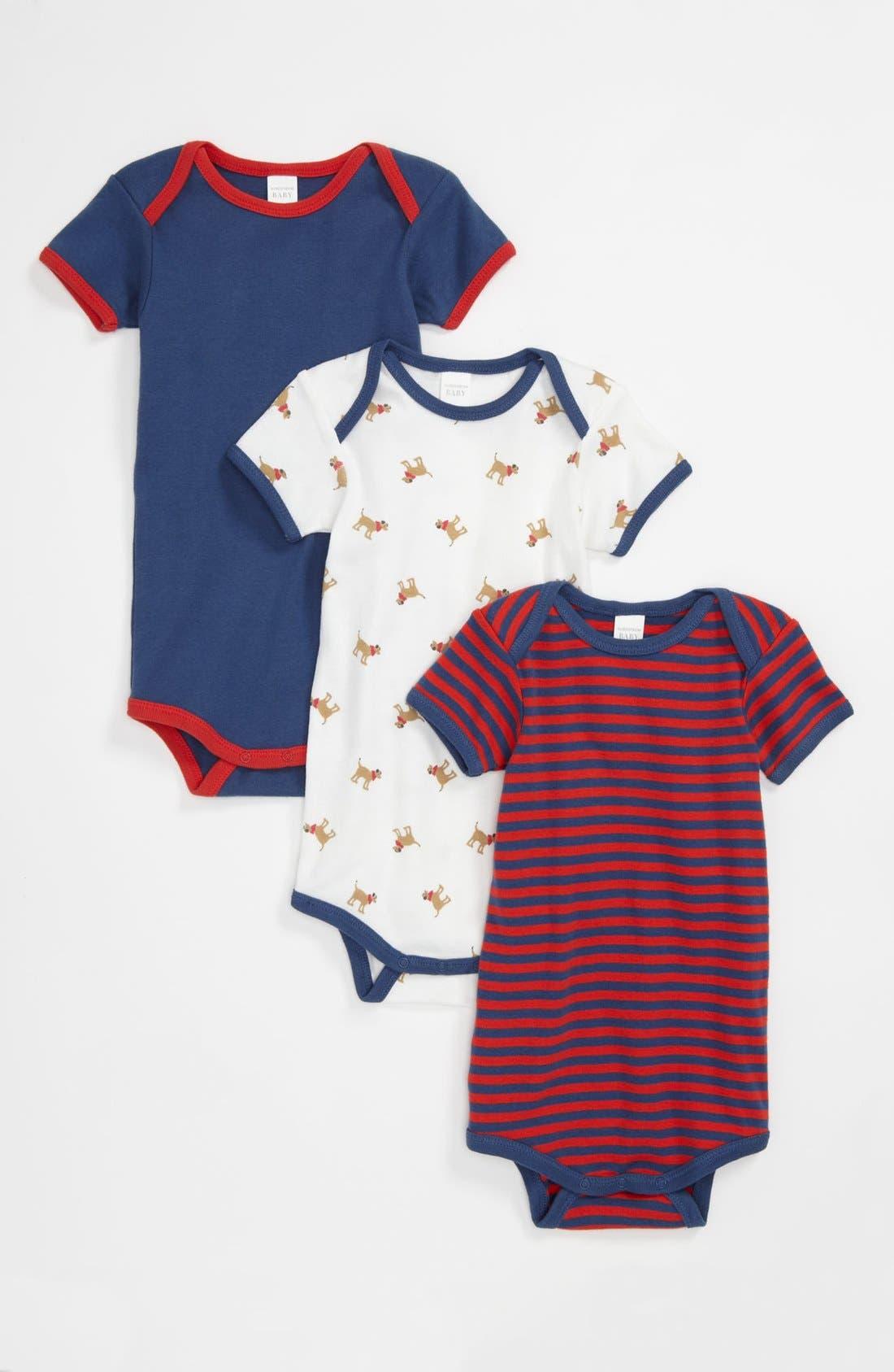 Alternate Image 1 Selected - Nordstrom Baby Bodysuit (3-Pack) (Baby)
