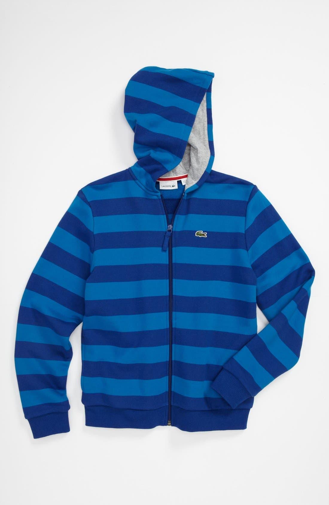 Alternate Image 1 Selected - Lacoste Stripe Sweatshirt (Big Boys)