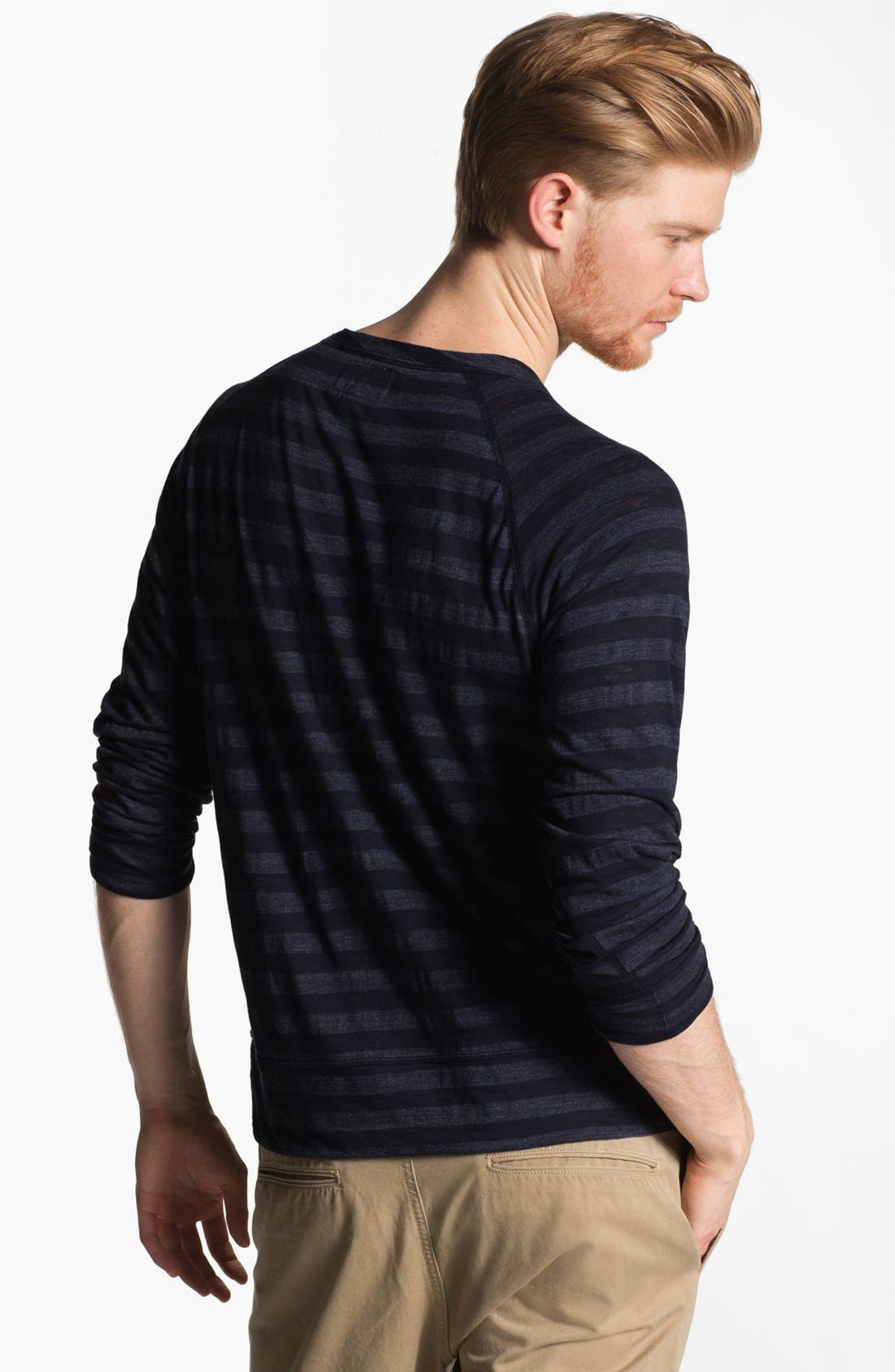 Alternate Image 2  - Todd Snyder Stripe Raglan Long Sleeve T-Shirt