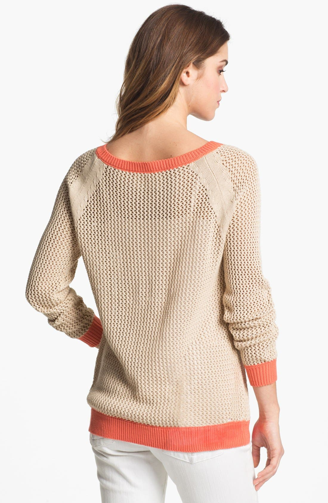 Alternate Image 2  - Two by Vince Camuto Two Tone Sweater