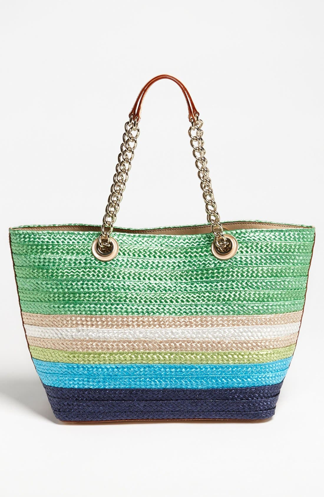 Alternate Image 4  - kate spade new york 'chelsea market - small coal' straw tote