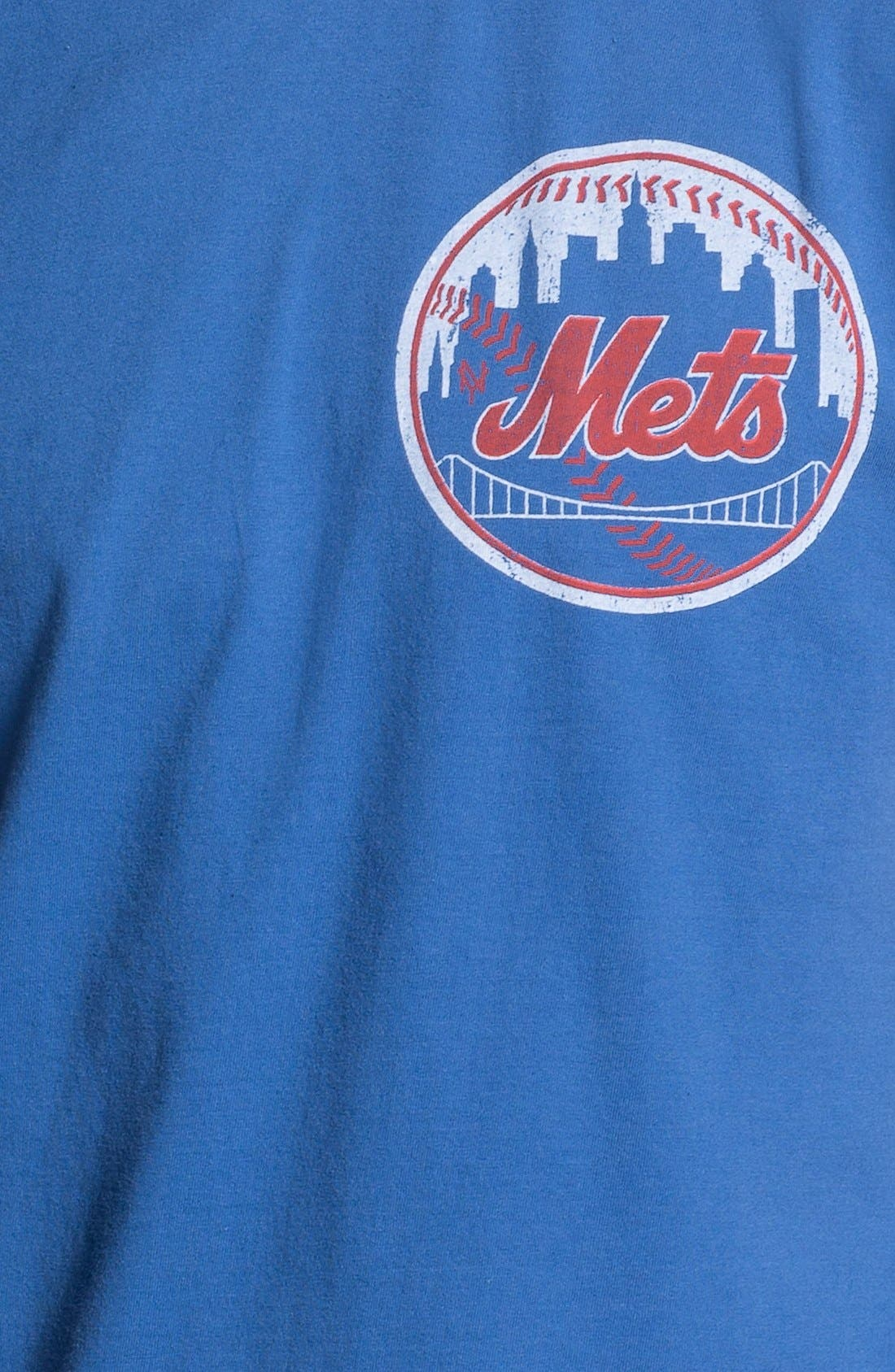 Alternate Image 3  - Red Jacket 'New York Mets' Trim Fit Ringer T-Shirt (Men)