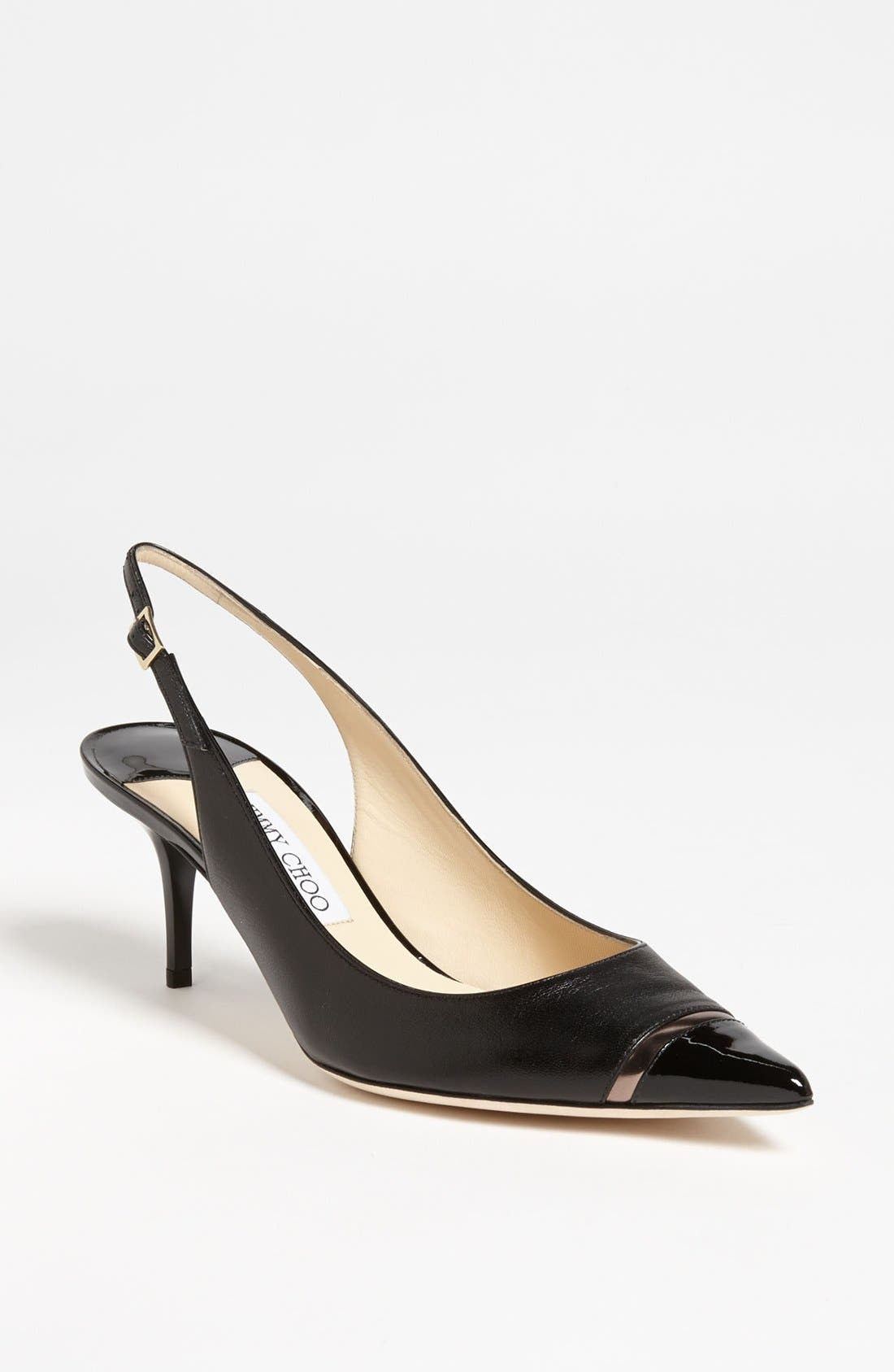 Alternate Image 1 Selected - Jimmy Choo 'Laurel' Cap Toe Slingback Pump