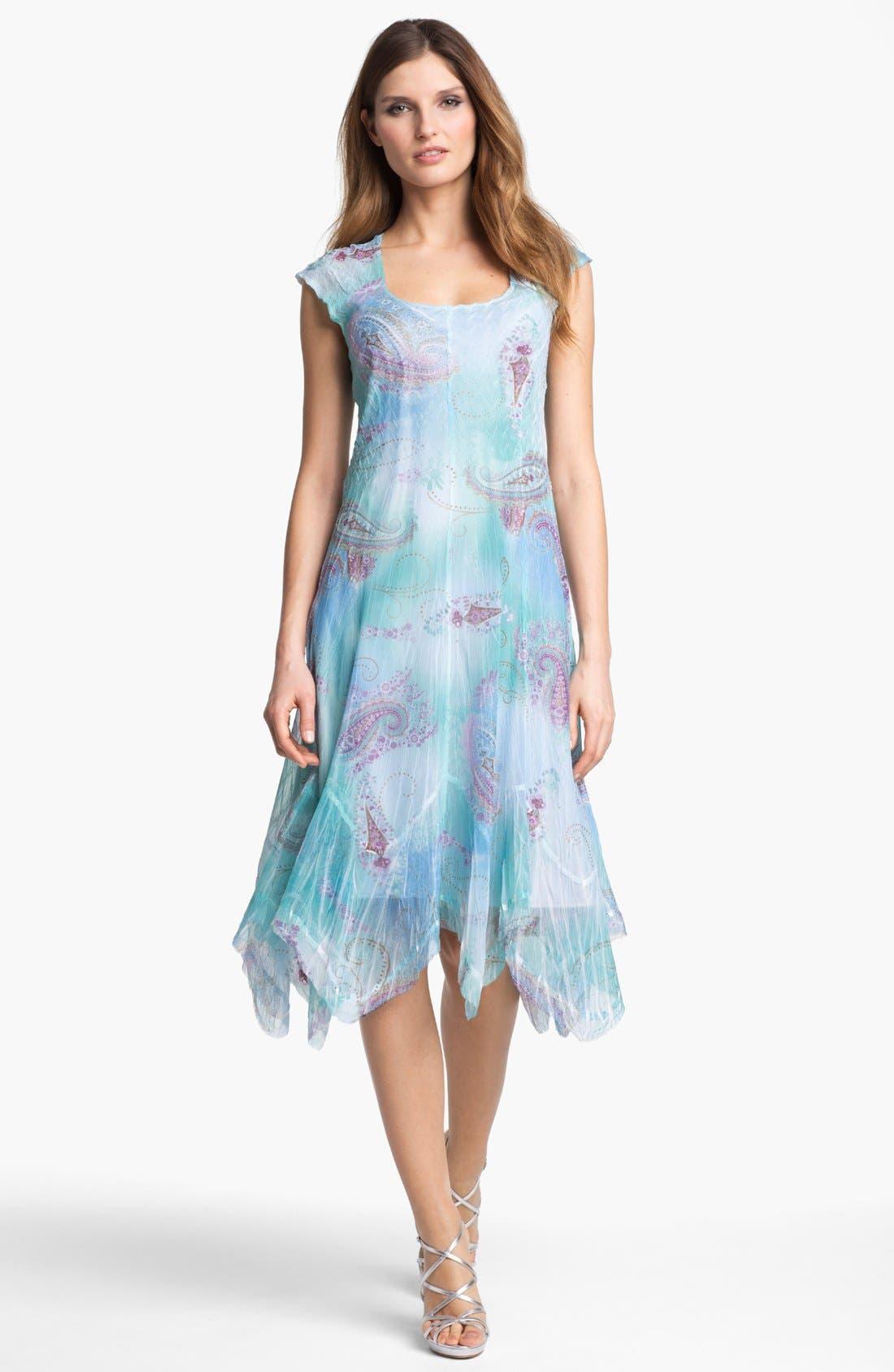 Alternate Image 1  - Komarov Print Chiffon A-Line Dress