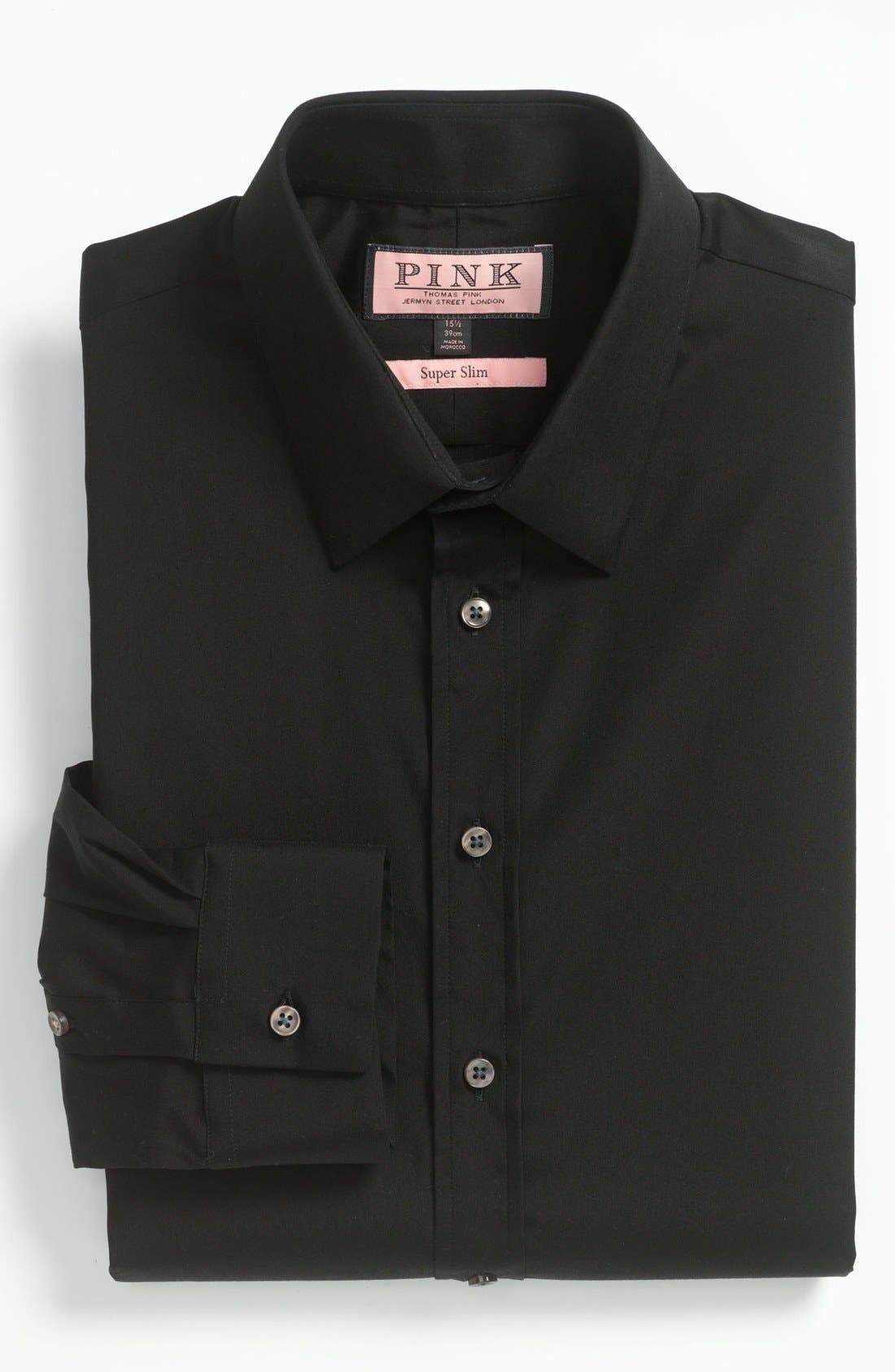 Alternate Image 1 Selected - Thomas Pink Super Slim Dress Shirt