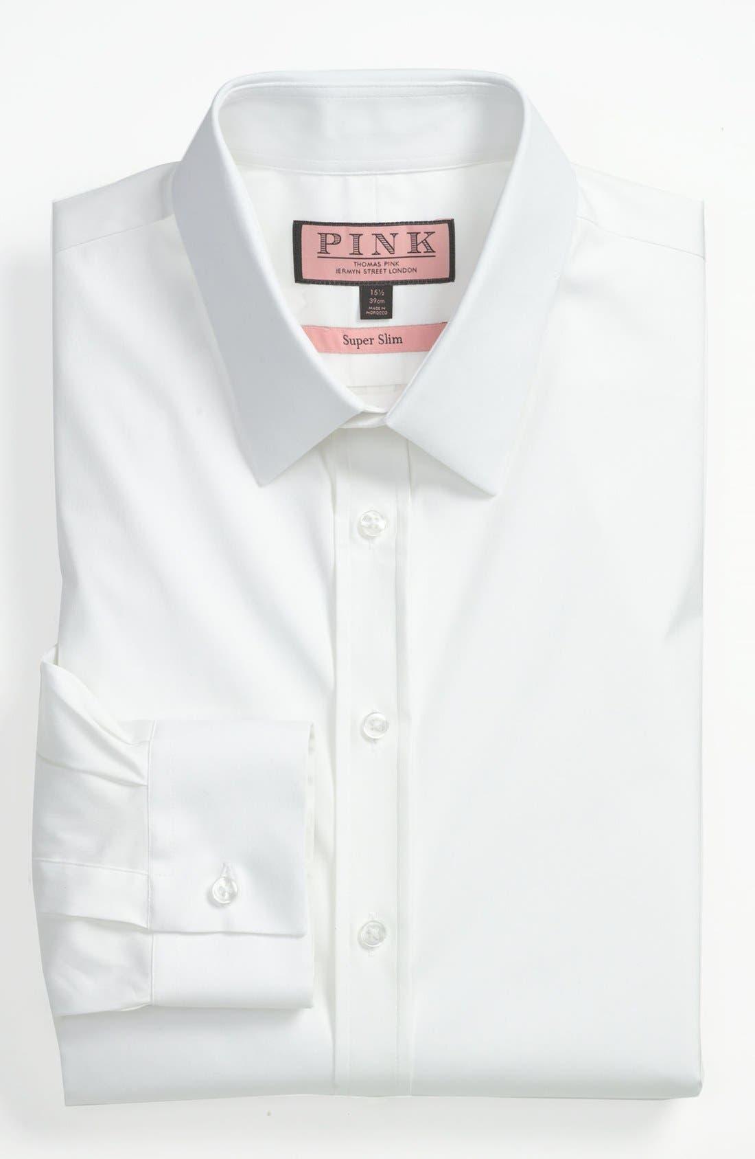 Main Image - Thomas Pink 'Freddie' Solid Cotton Stretch Super Slim Fit Dress Shirt