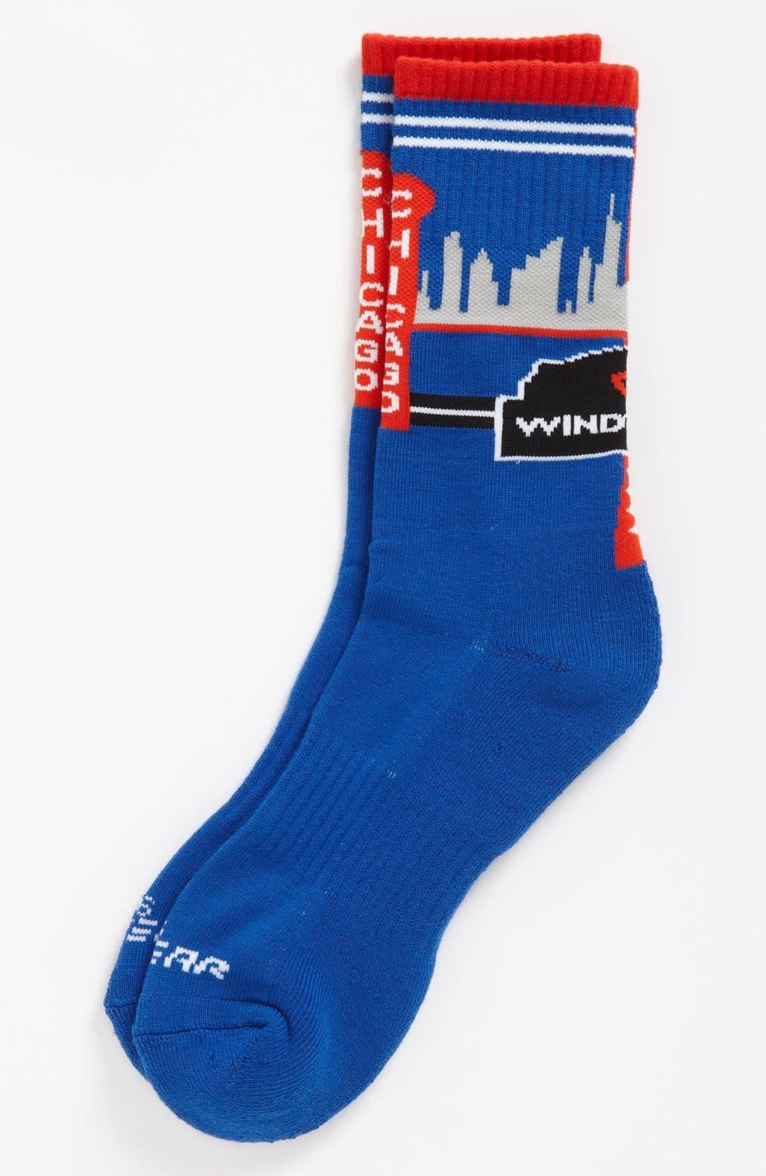 Alternate Image 1 Selected - G 206 Wear 'Chicago Skyline' Socks (Big Kid)