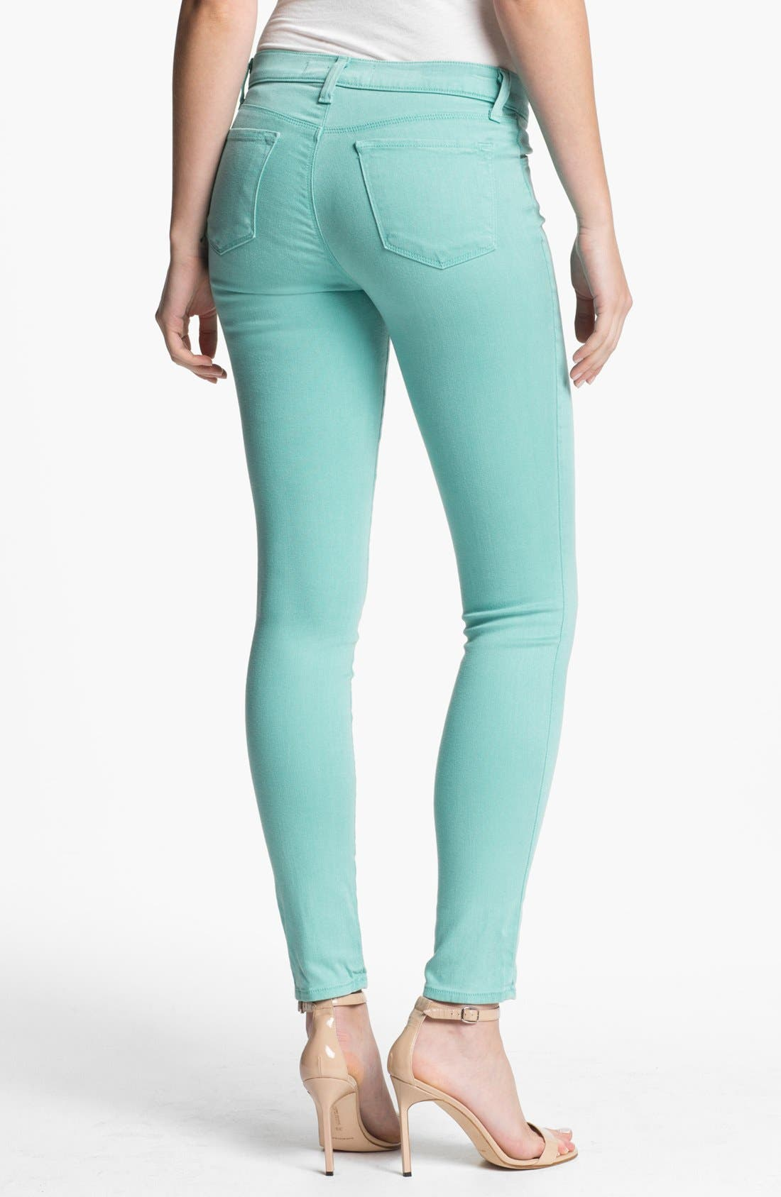 Alternate Image 2  - J Brand '620' Overdyed Skinny Leg Jeans (Columbia)