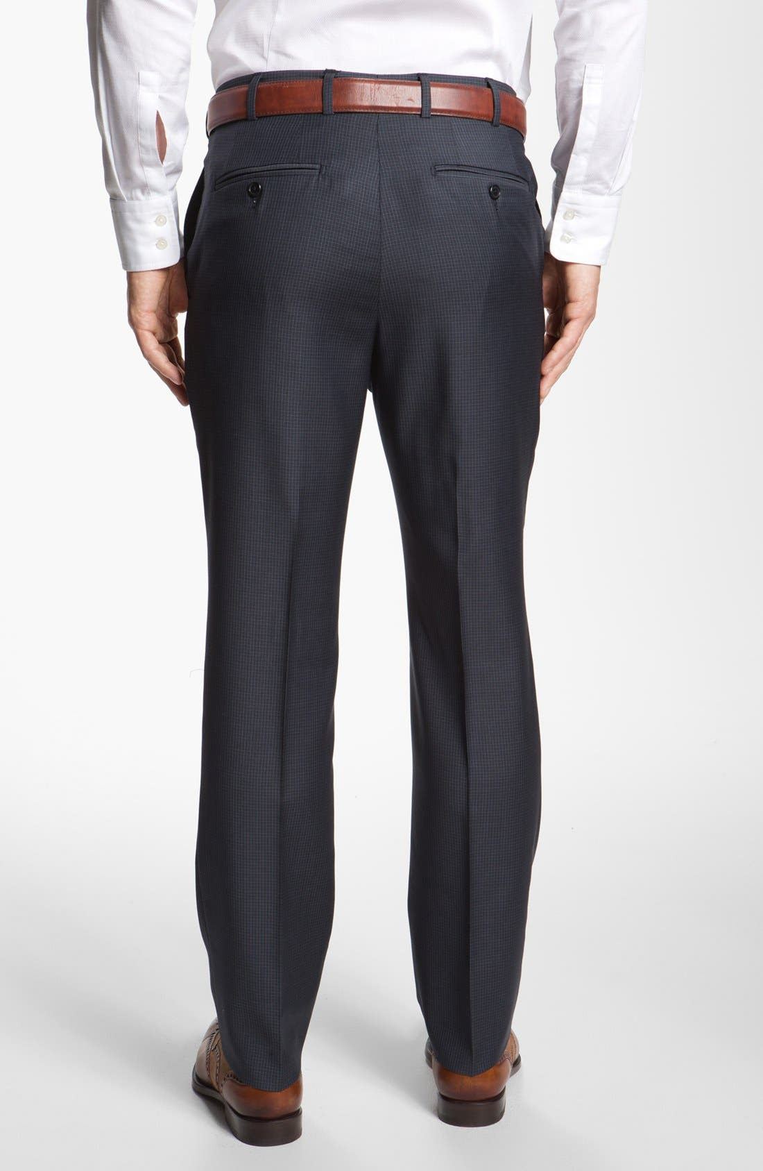 Alternate Image 2  - Santorelli Flat Front Trousers