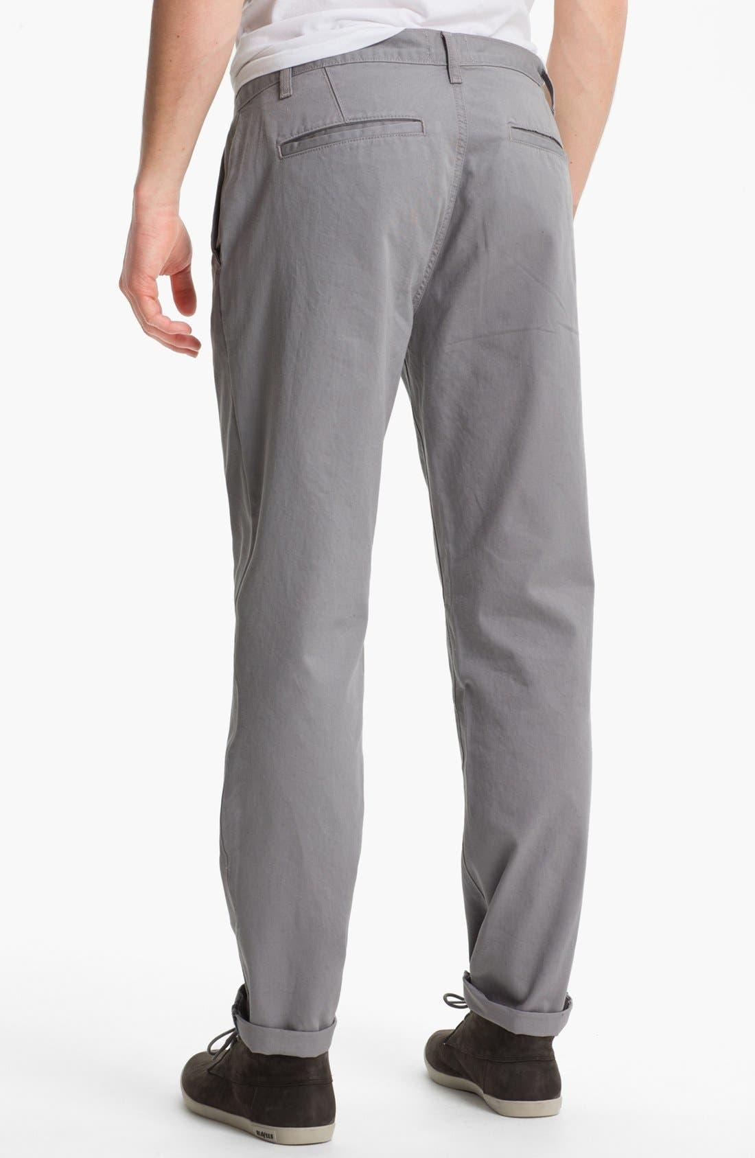 Alternate Image 2  - Topman Slim Straight Leg Chinos