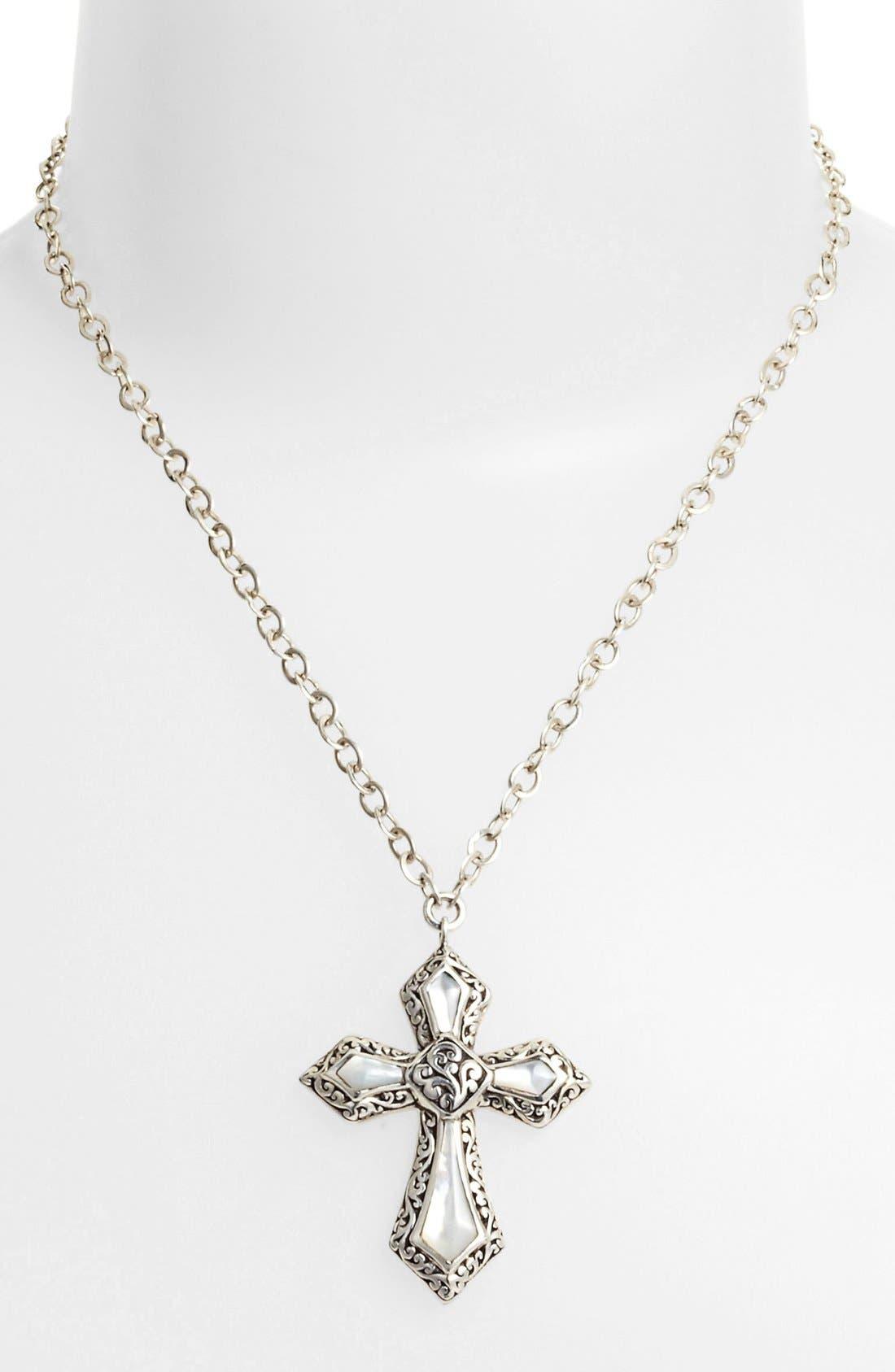 Main Image - Lois Hill Cross Pendant Necklace