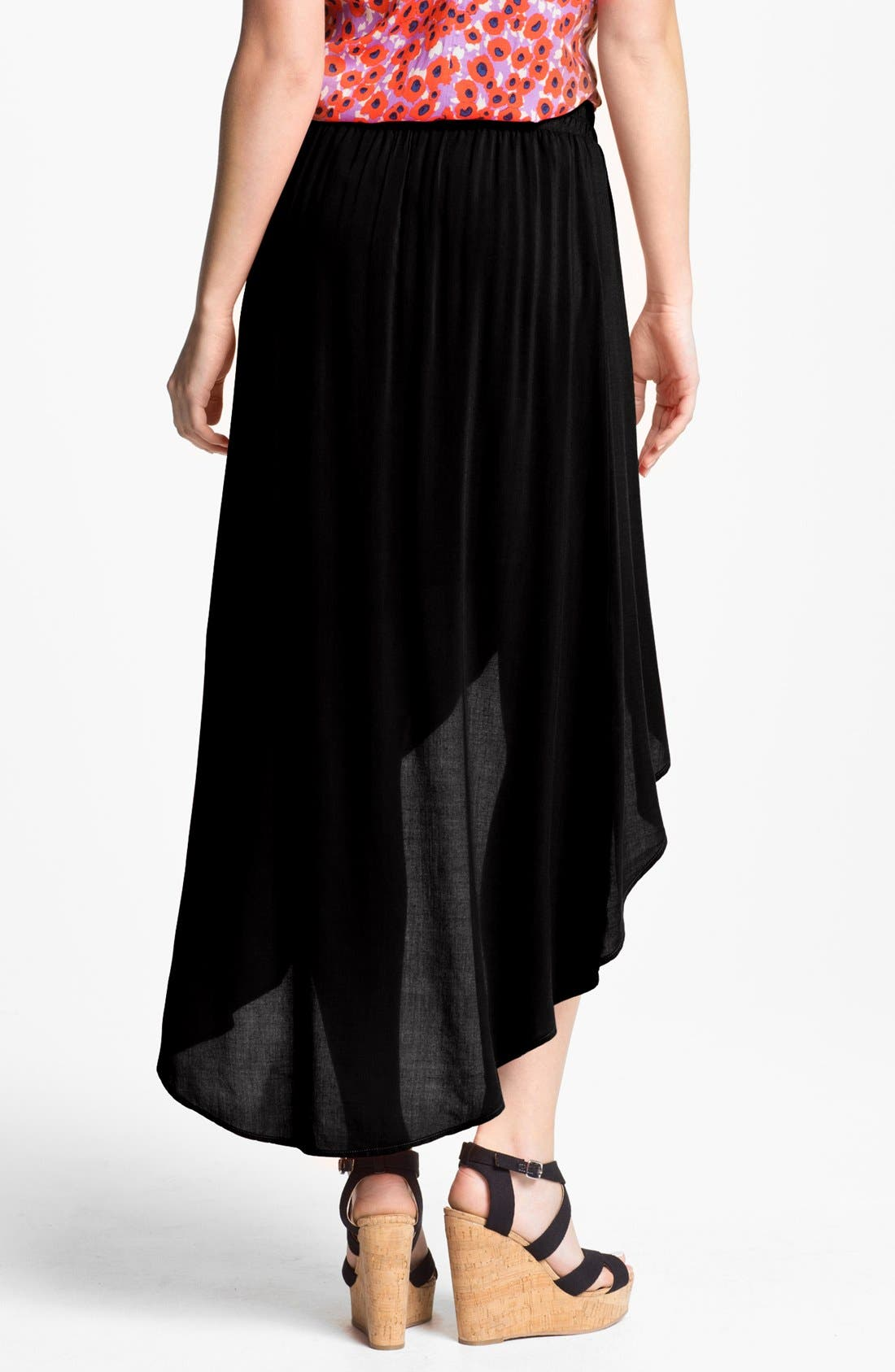 Alternate Image 2  - Splendid High/Low Faux Wrap Skirt