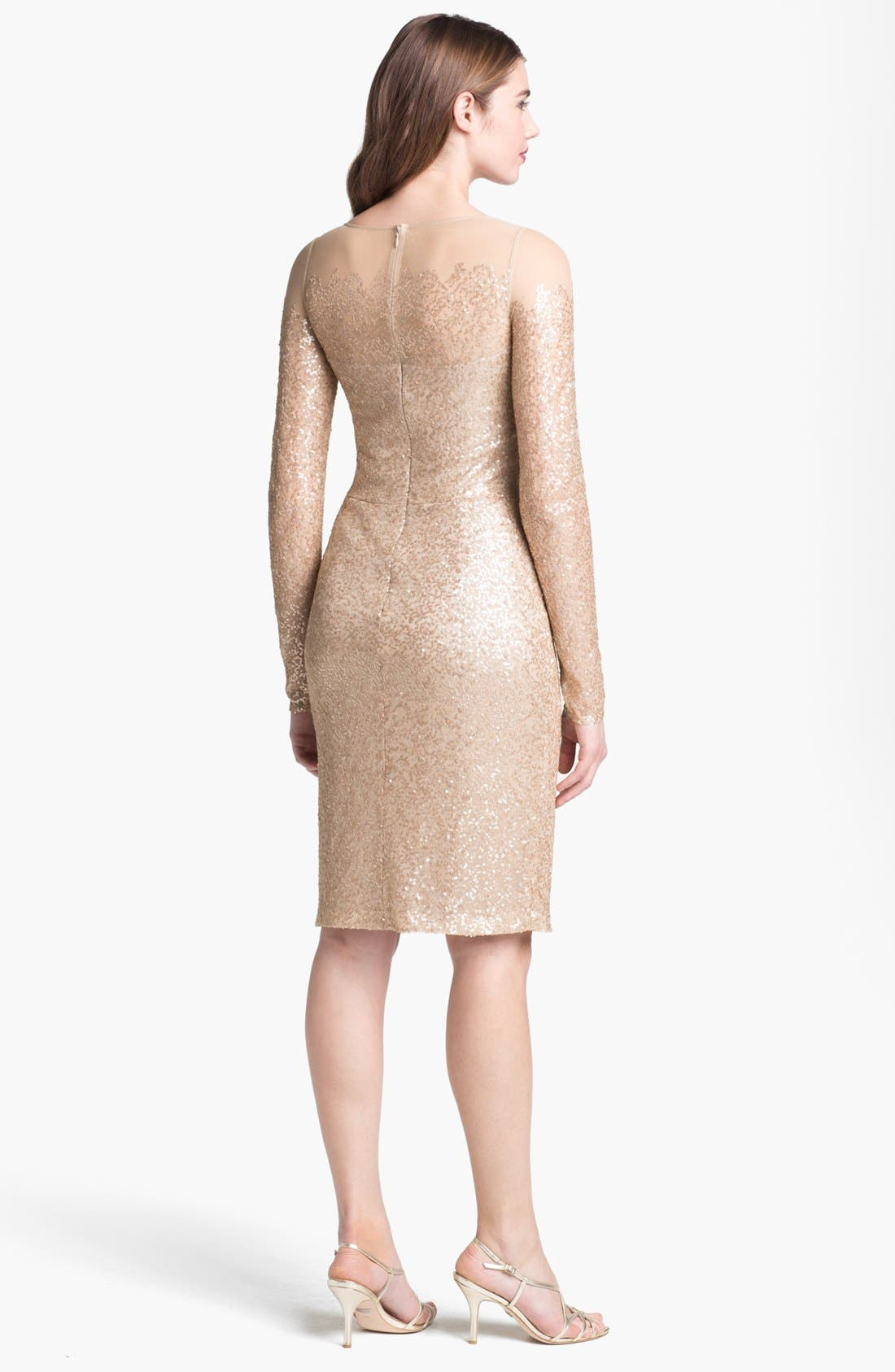 Alternate Image 2  - David Meister Illusion Yoke Embellished Sheath Dress