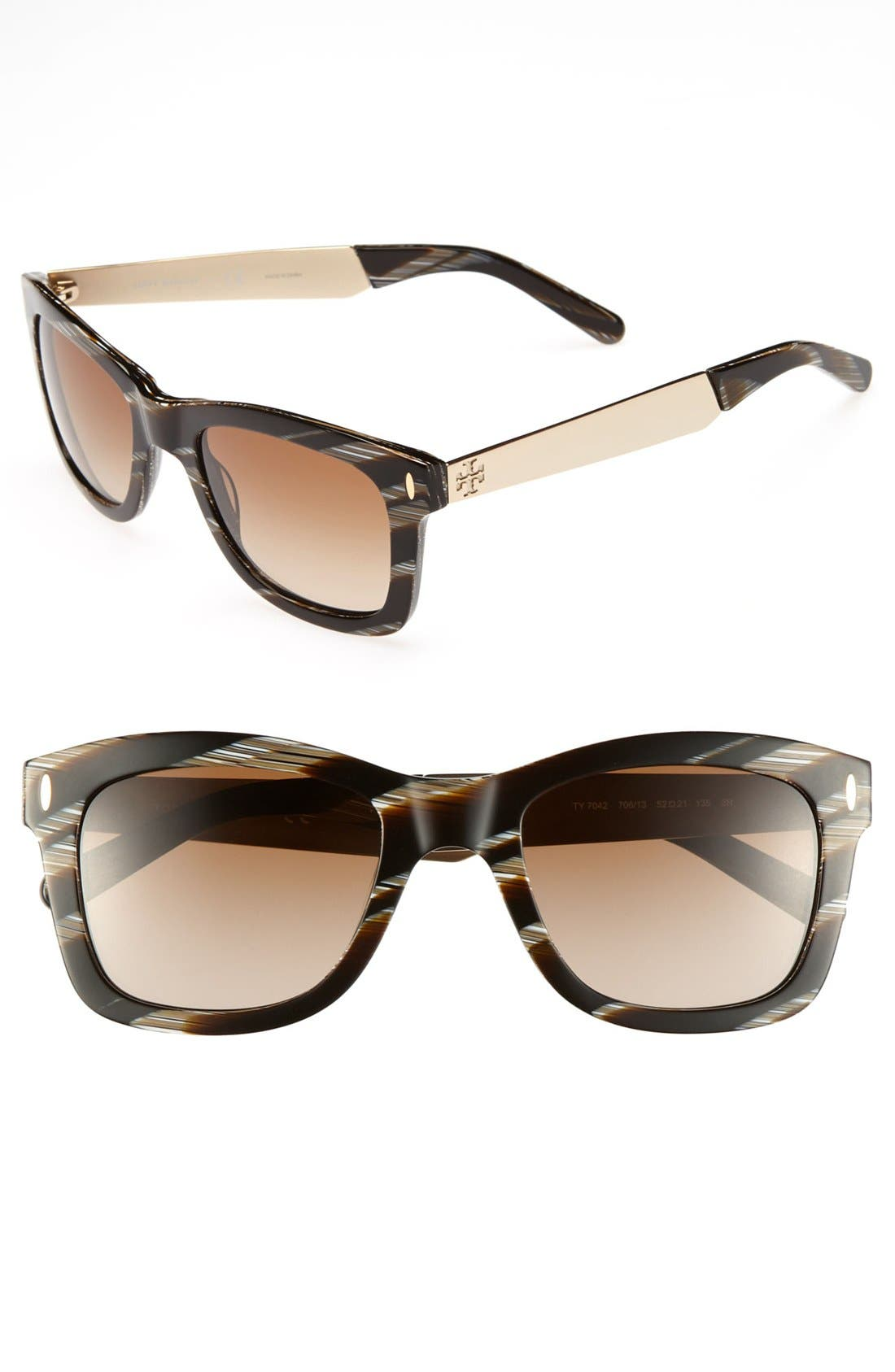 Alternate Image 1 Selected - Tory Burch 52mm Sunglasses (Online Only)