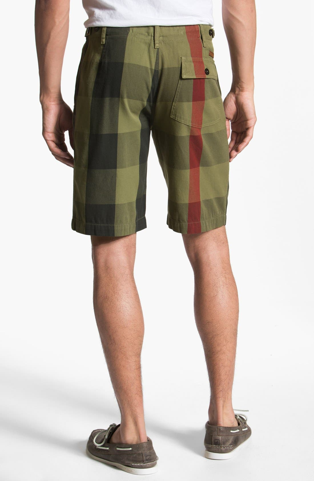 Alternate Image 2  - Burberry Brit Check Print Shorts