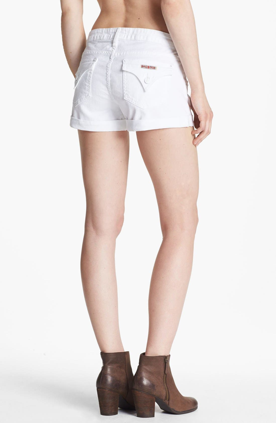 Alternate Image 2  - Hudson Jeans 'Hampton' Cuff Jean Shorts (White)