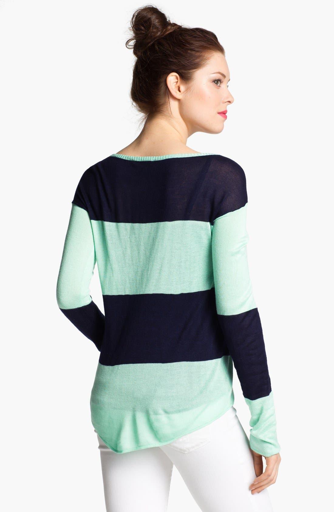 Alternate Image 2  - LAmade Colorblock Split Neck Sweater