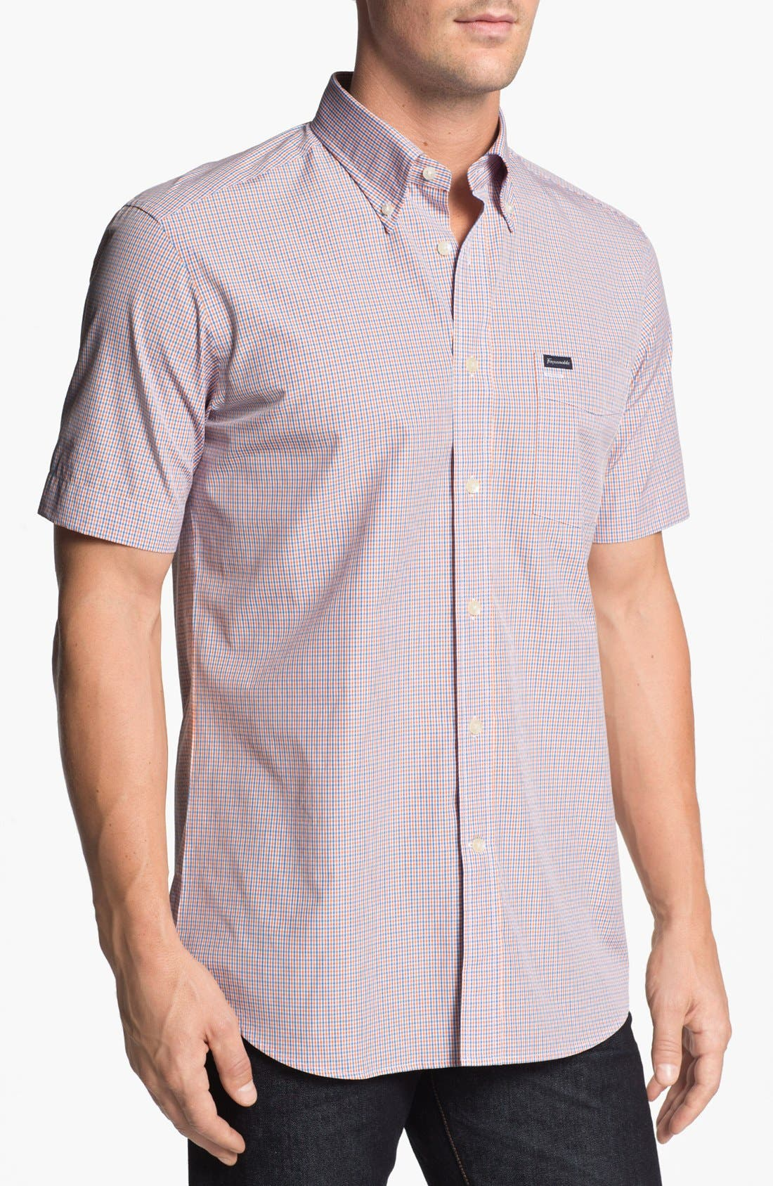 Alternate Image 1 Selected - Façonnable Club Fit Short Sleeve Sport Shirt