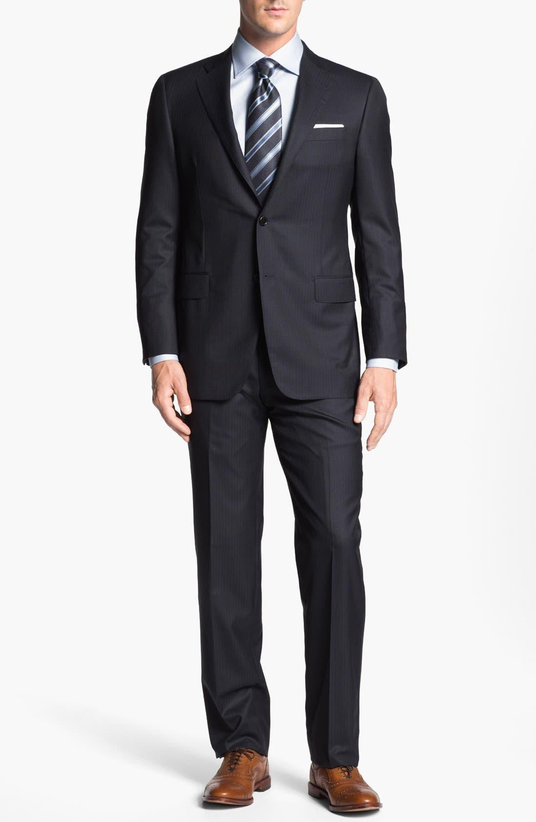 Alternate Image 1 Selected - Hickey Freeman 'Beacon' Stripe Suit