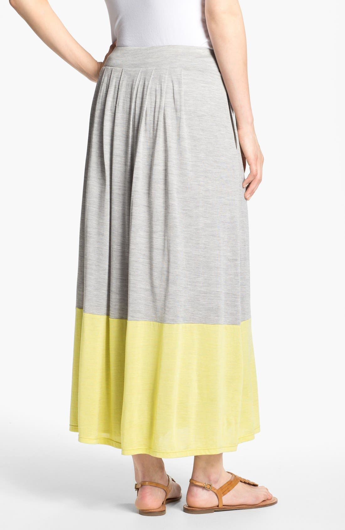Alternate Image 2  - Eileen Fisher Pleated Colorblock Midi Skirt (Regular & Petite)