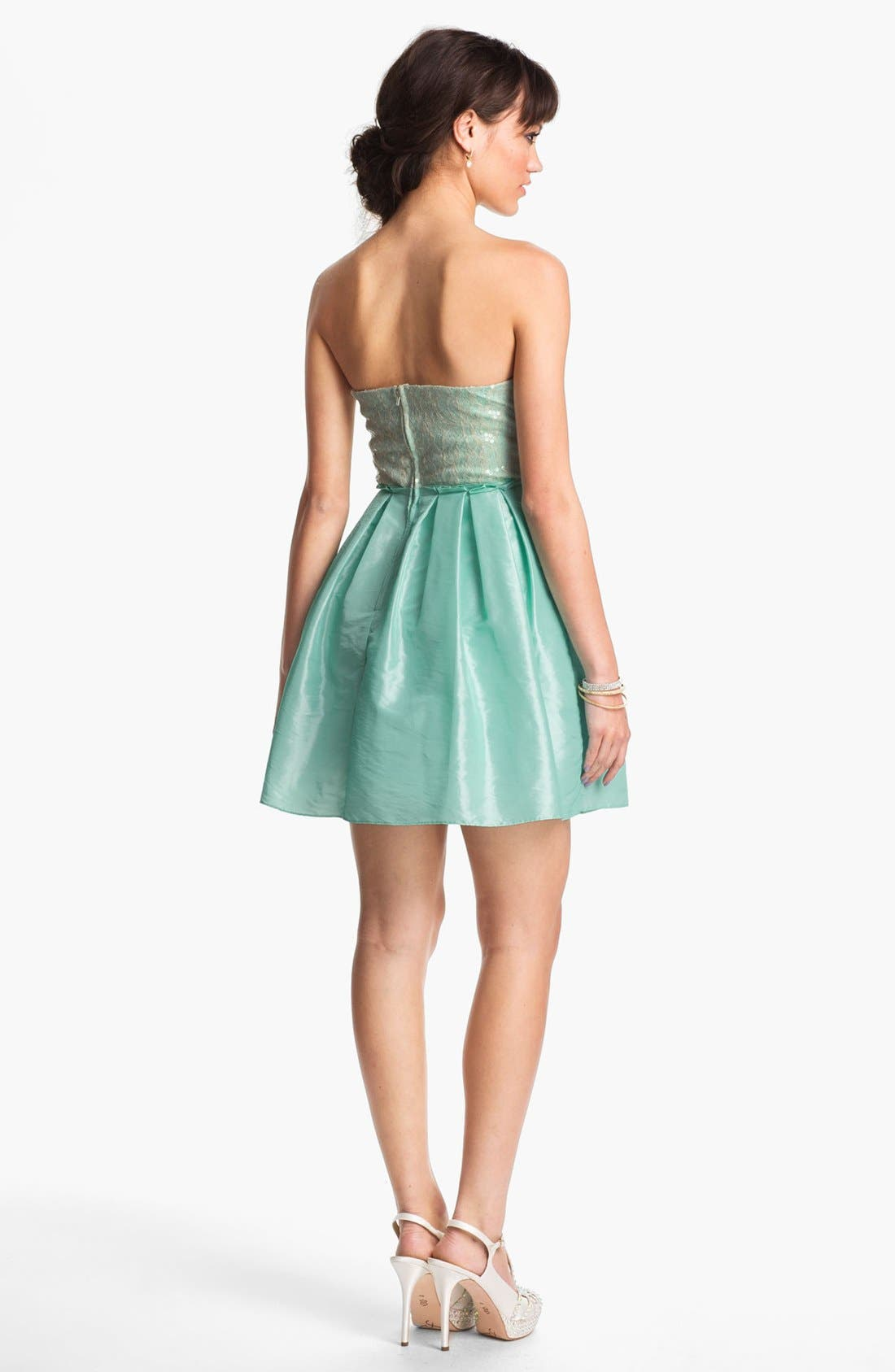Alternate Image 2  - Way-In Embellished Ballerina Dress (Juniors)