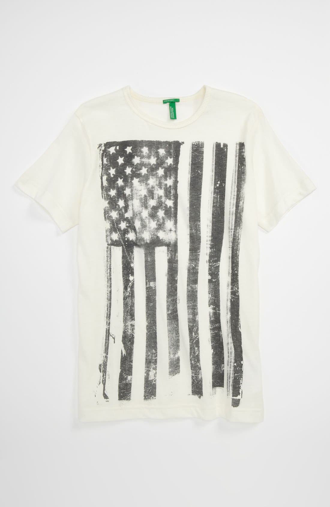 Alternate Image 1 Selected - United Colors of Benetton Kids 'American Flag' T-Shirt (Big Boys)