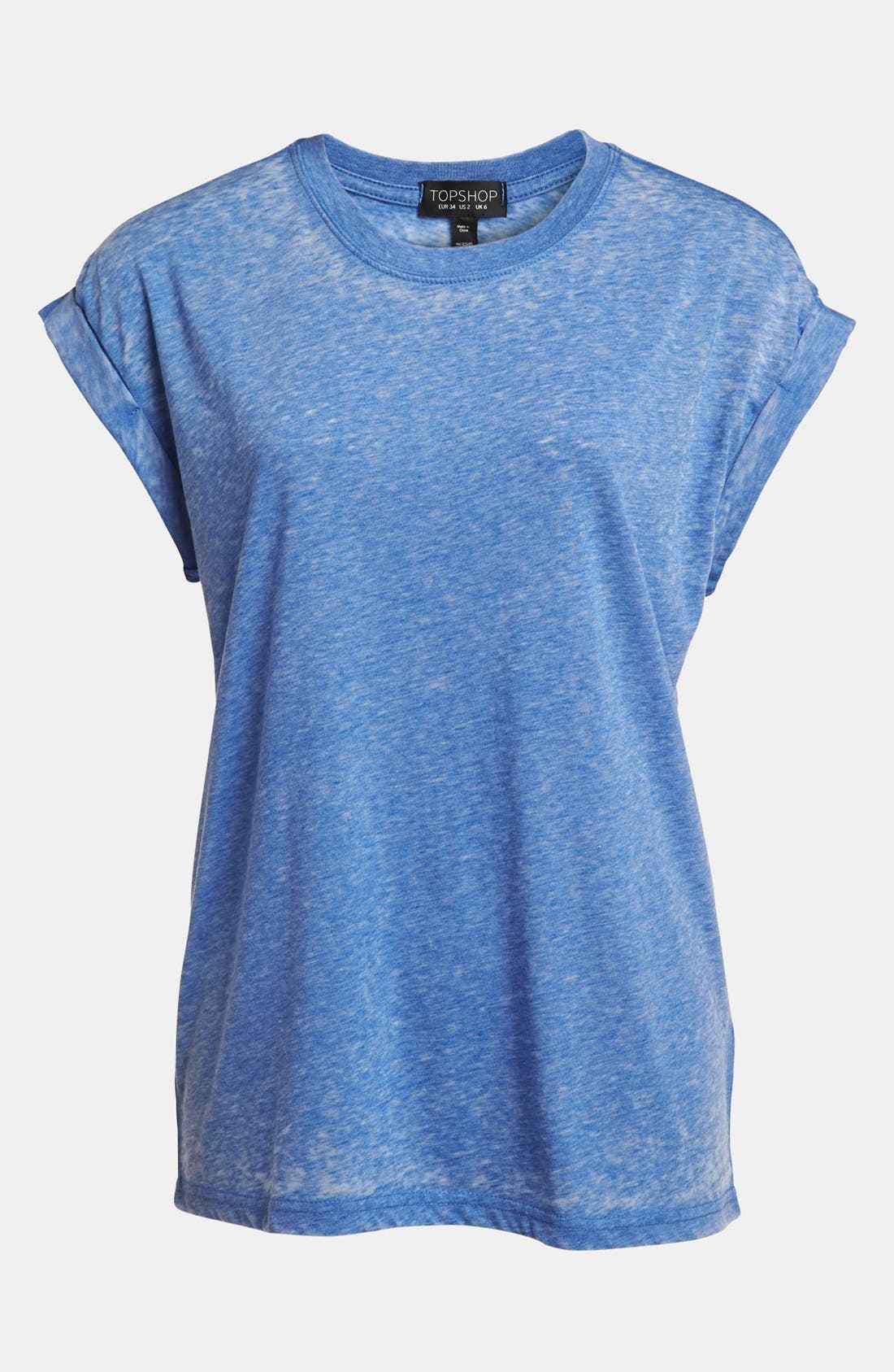 Main Image - Topshop Oversized Burnout Tee