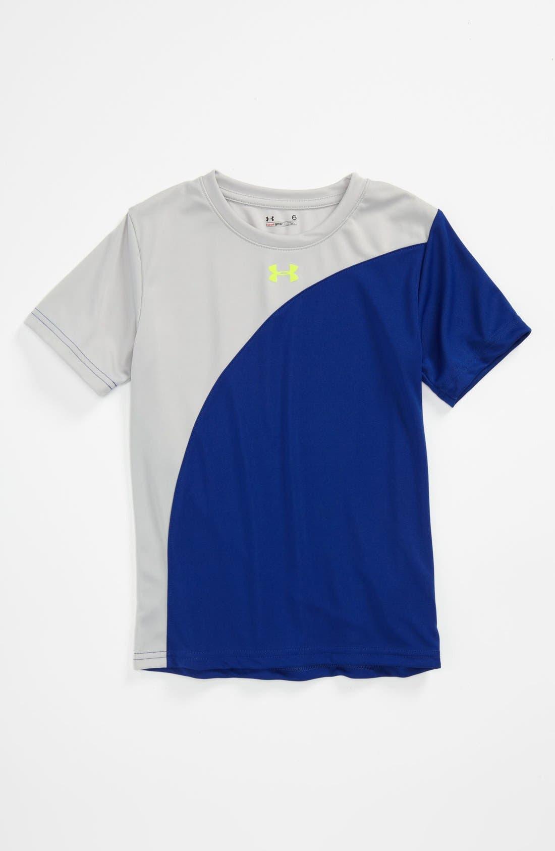 Main Image - Under Armour 'Flip' HeatGear® T-Shirt (Little Boys)